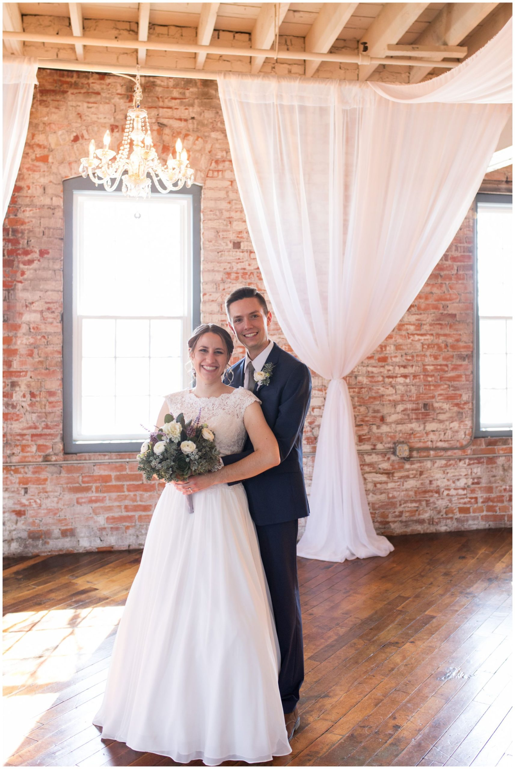 bride and groom portraits at Bread & Chocolate in Goshen