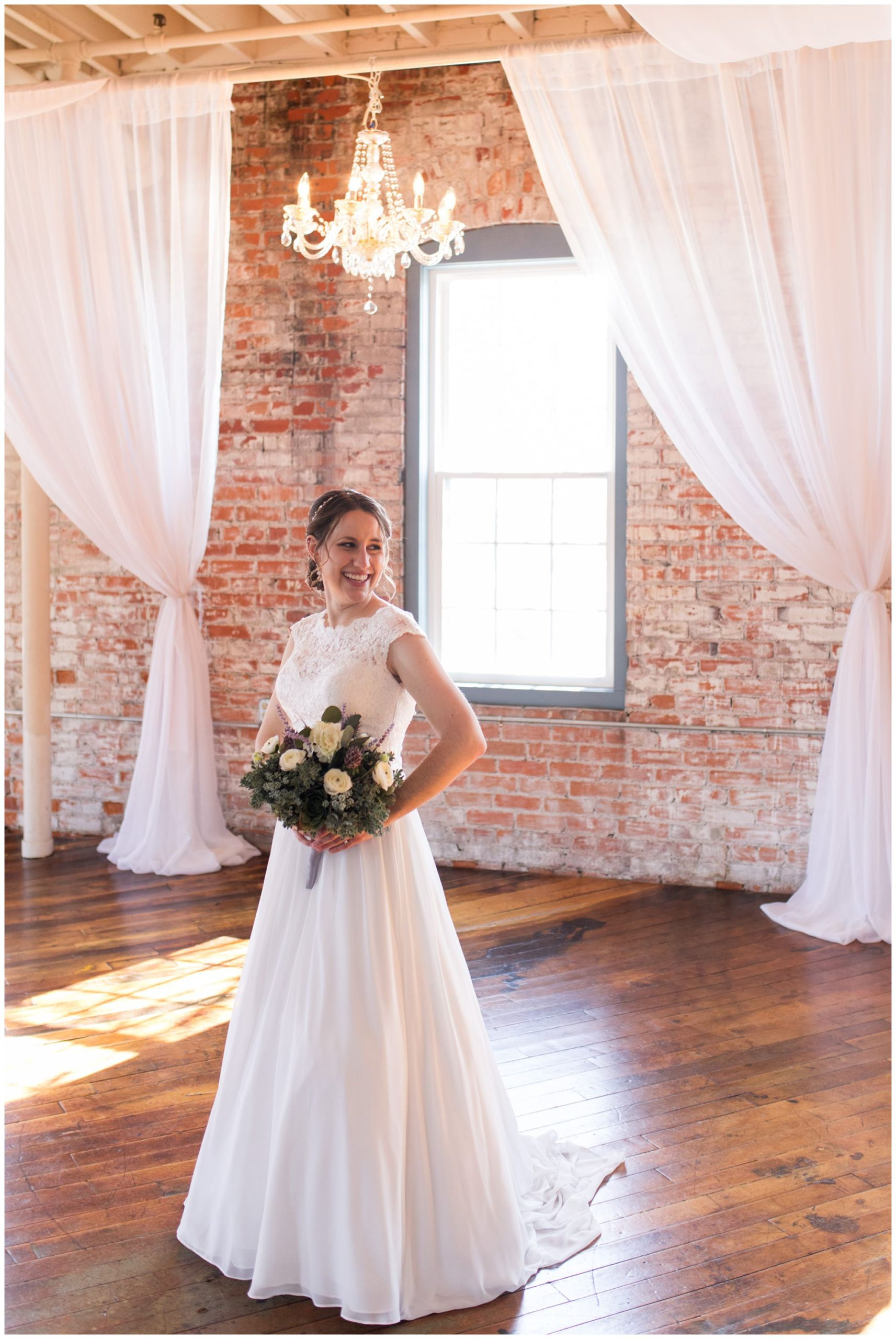 bride wedding portraits at Bread & Chocolate at Old Bag Factory