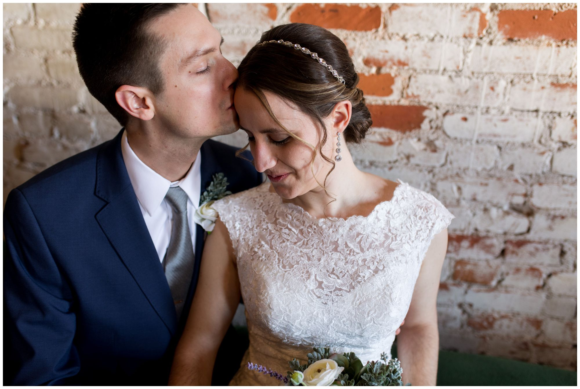 Bread & Chocolate bride and groom portraits in Goshen Indiana