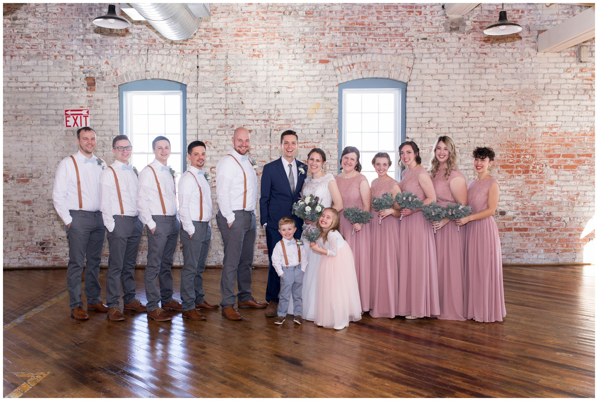 bridal party photos at Bread & Chocolate
