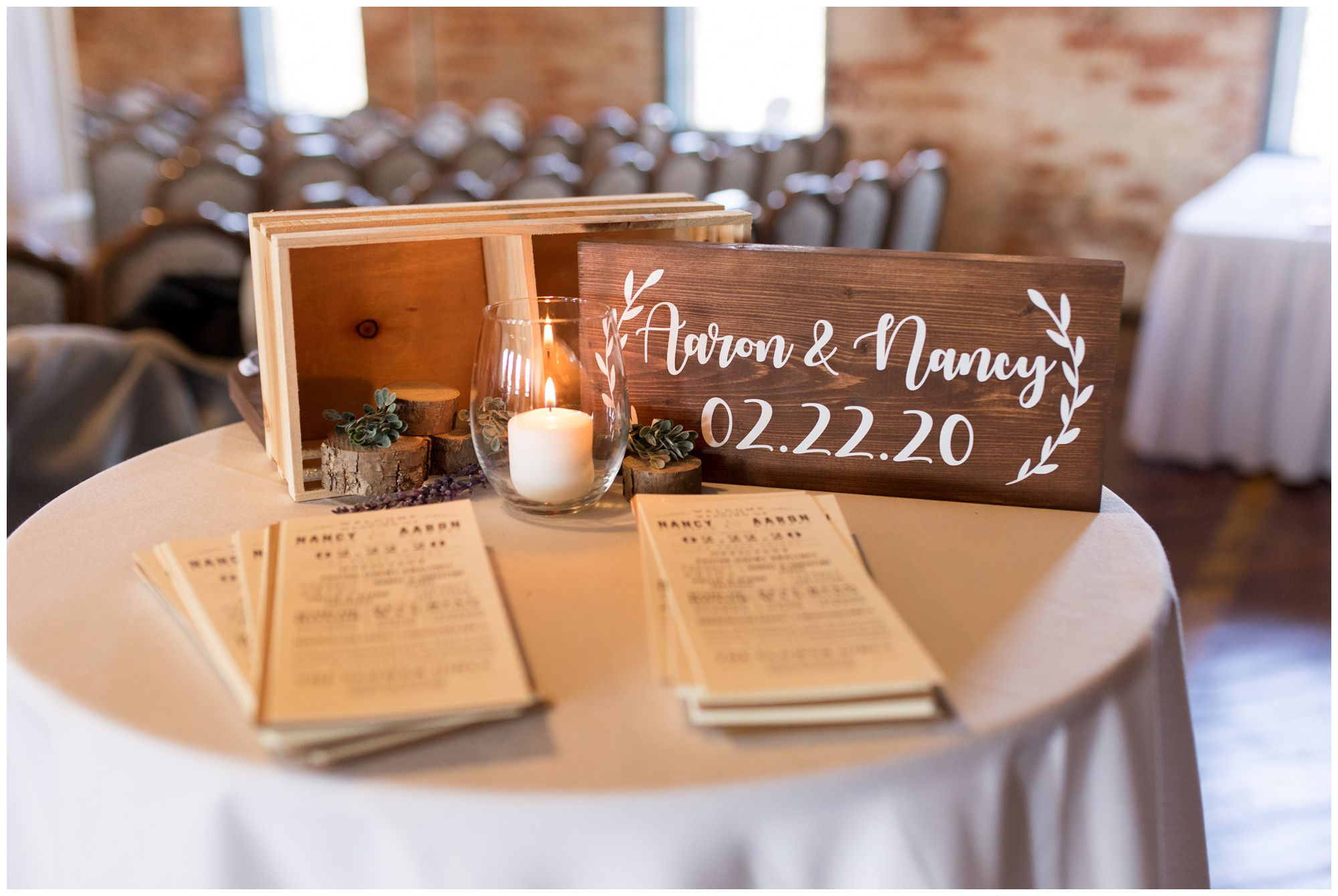 ceremony programs and decor at Bread & Chocolate