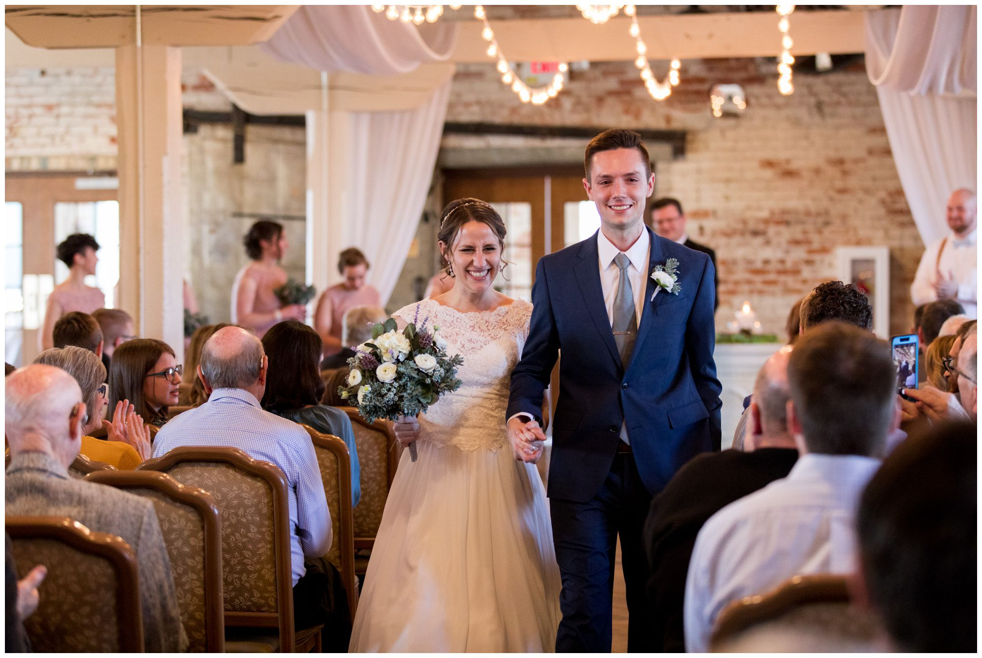 bride and groom recessional at Bread & Chocolate wedding ceremony