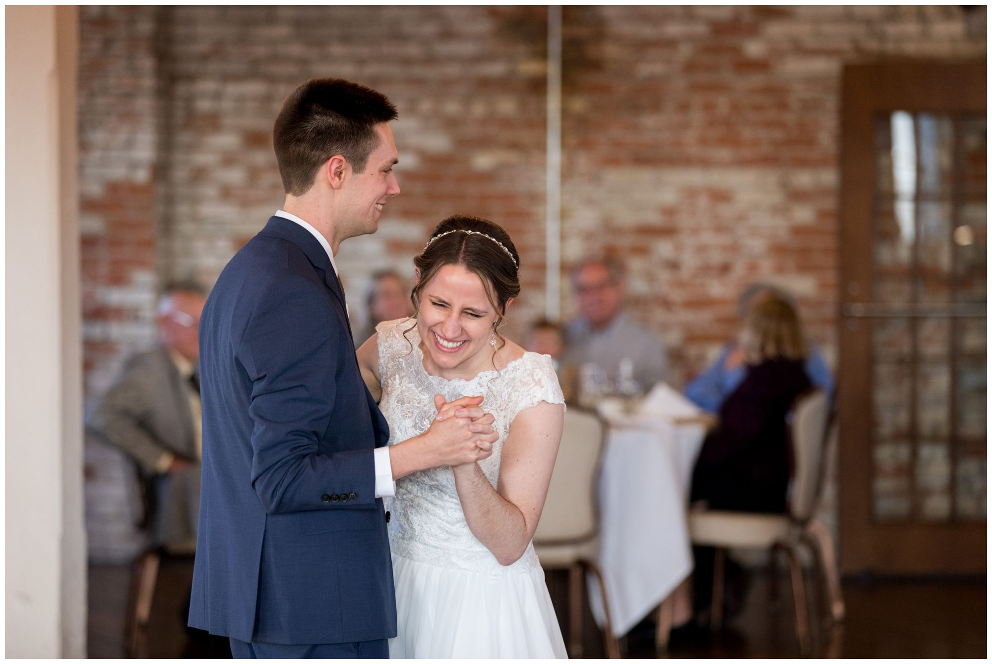 bride and groom first dance at Bread & Chocolate wedding reception