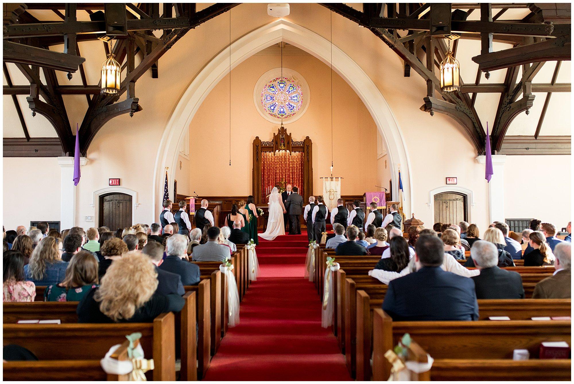 Irvington United Methodist Church wedding ceremony