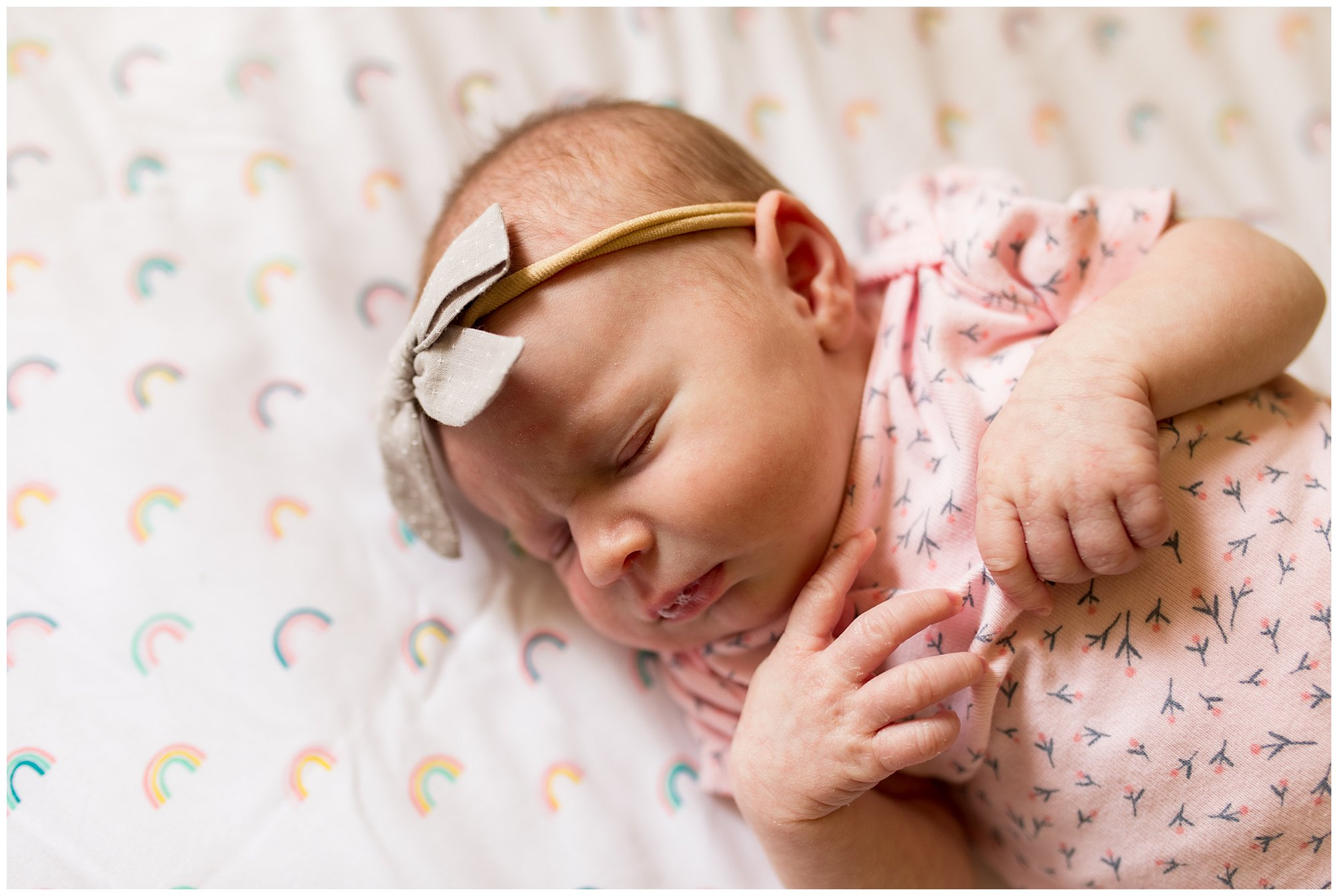 Fort Wayne newborn session in home