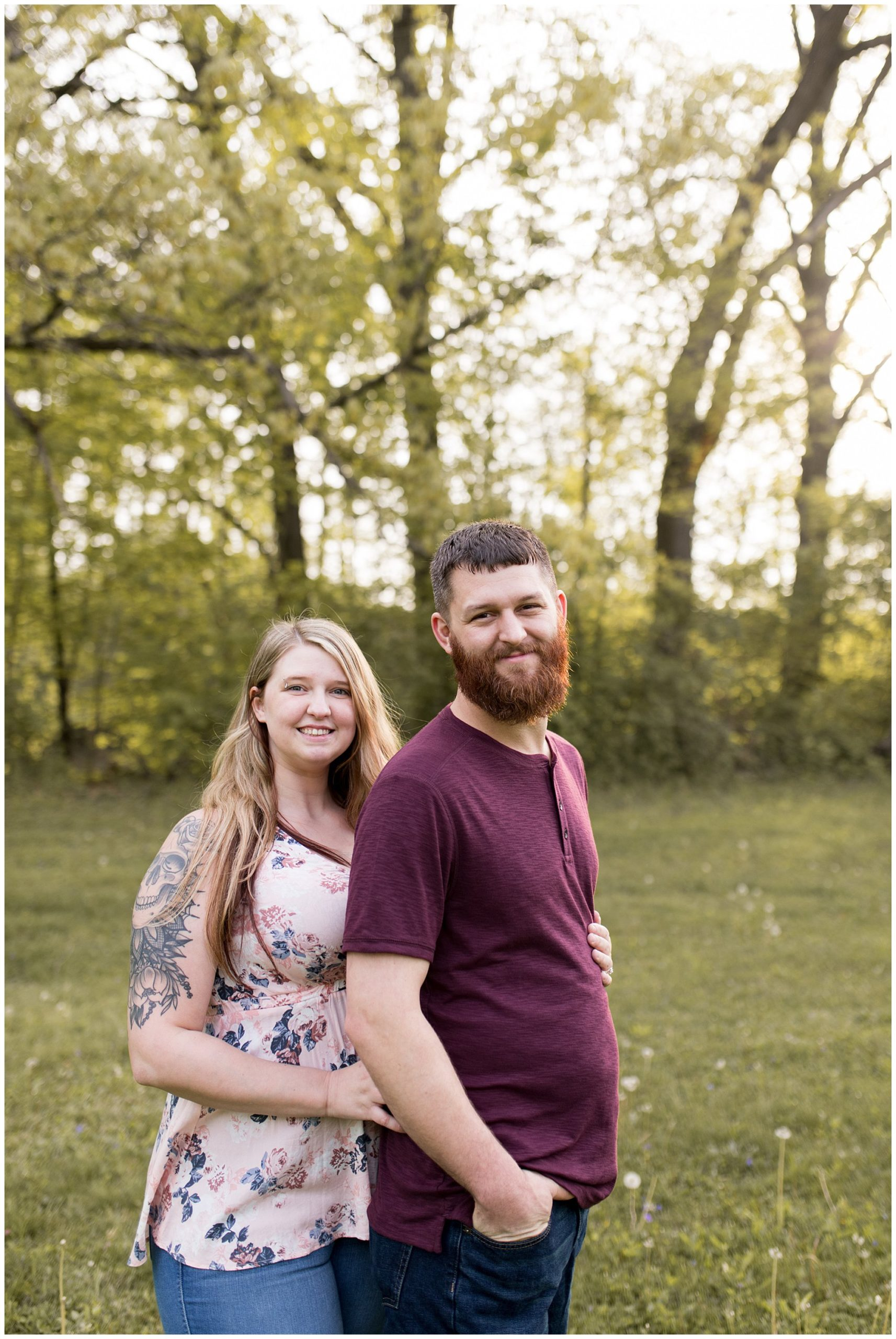 Foster Park engagement session in Fort Wayne, Indiana