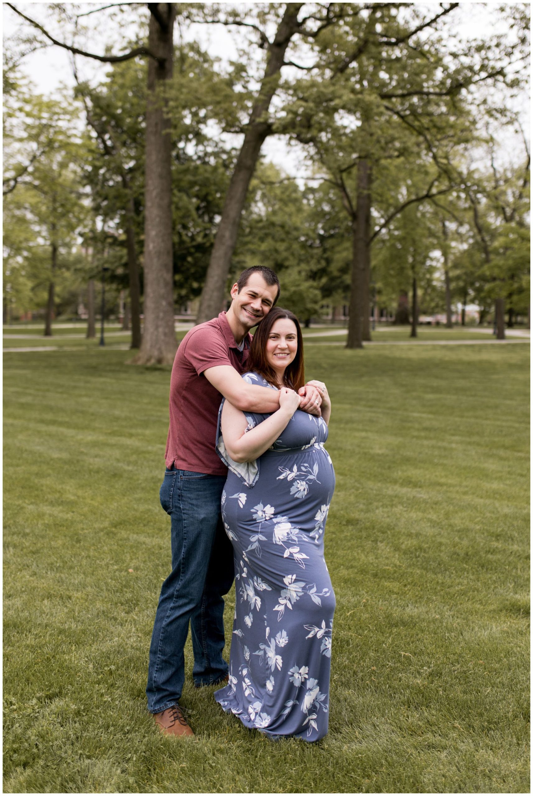 maternity session at Ball State University in Muncie, Indiana