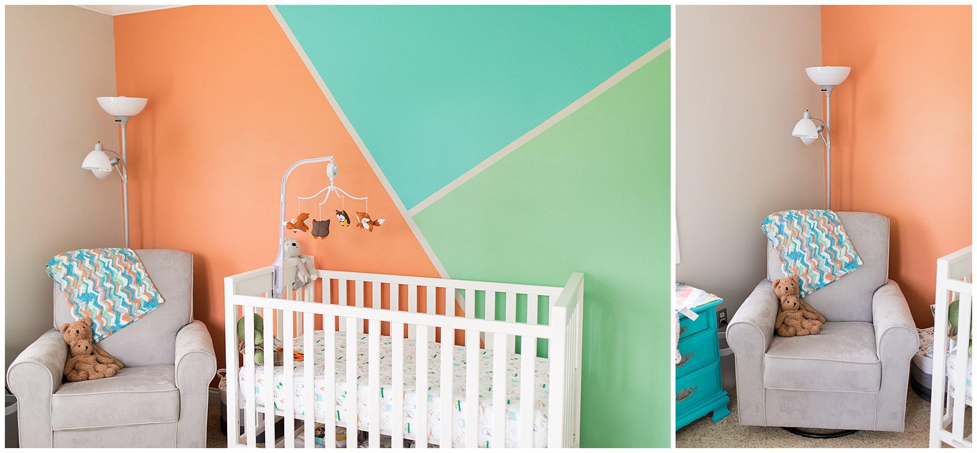 gender neutral nursery decor in Muncie Indiana