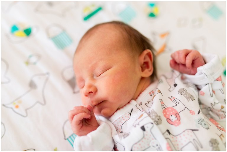 colorful Muncie newborn session
