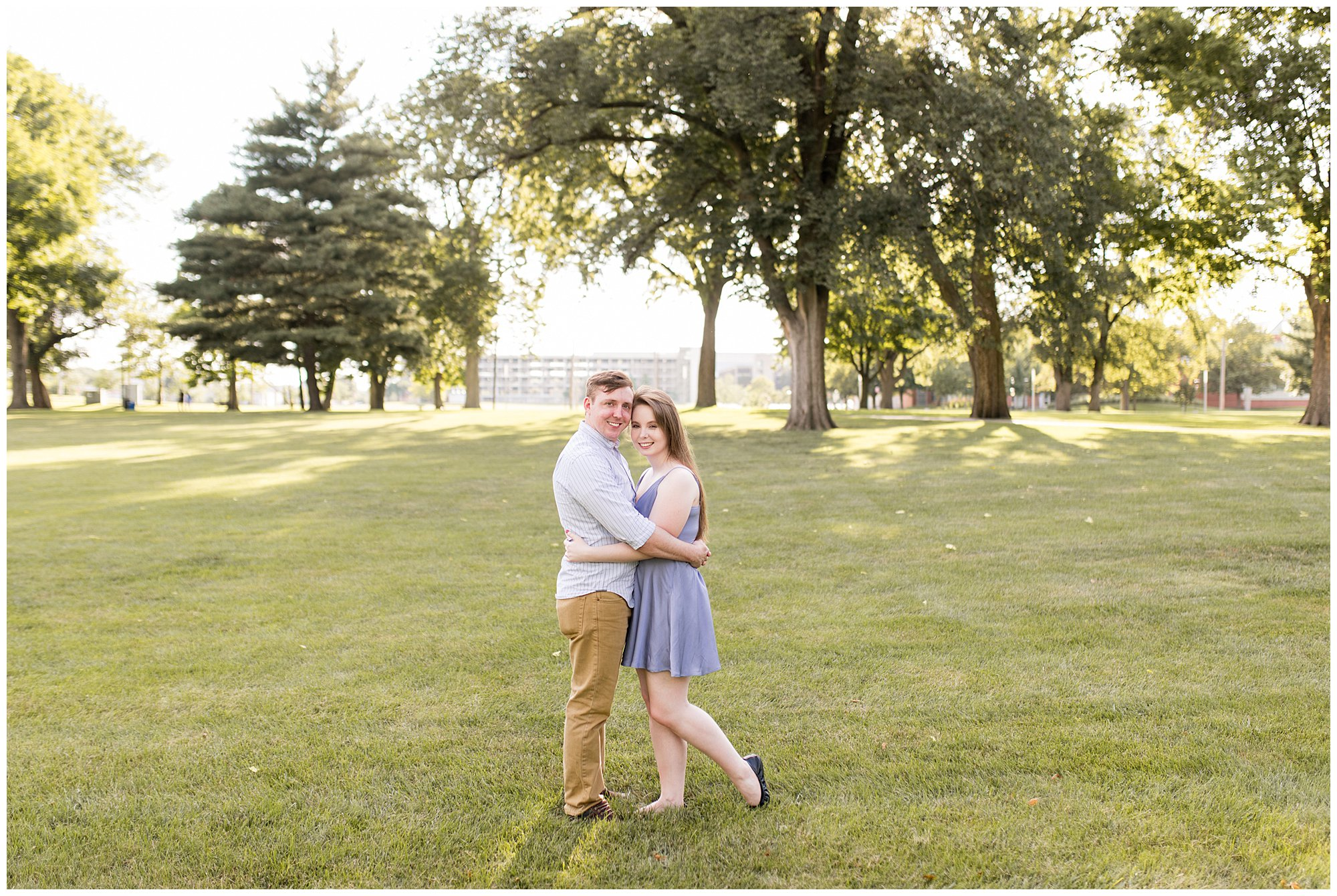 Indianapolis engagement session at Military Park
