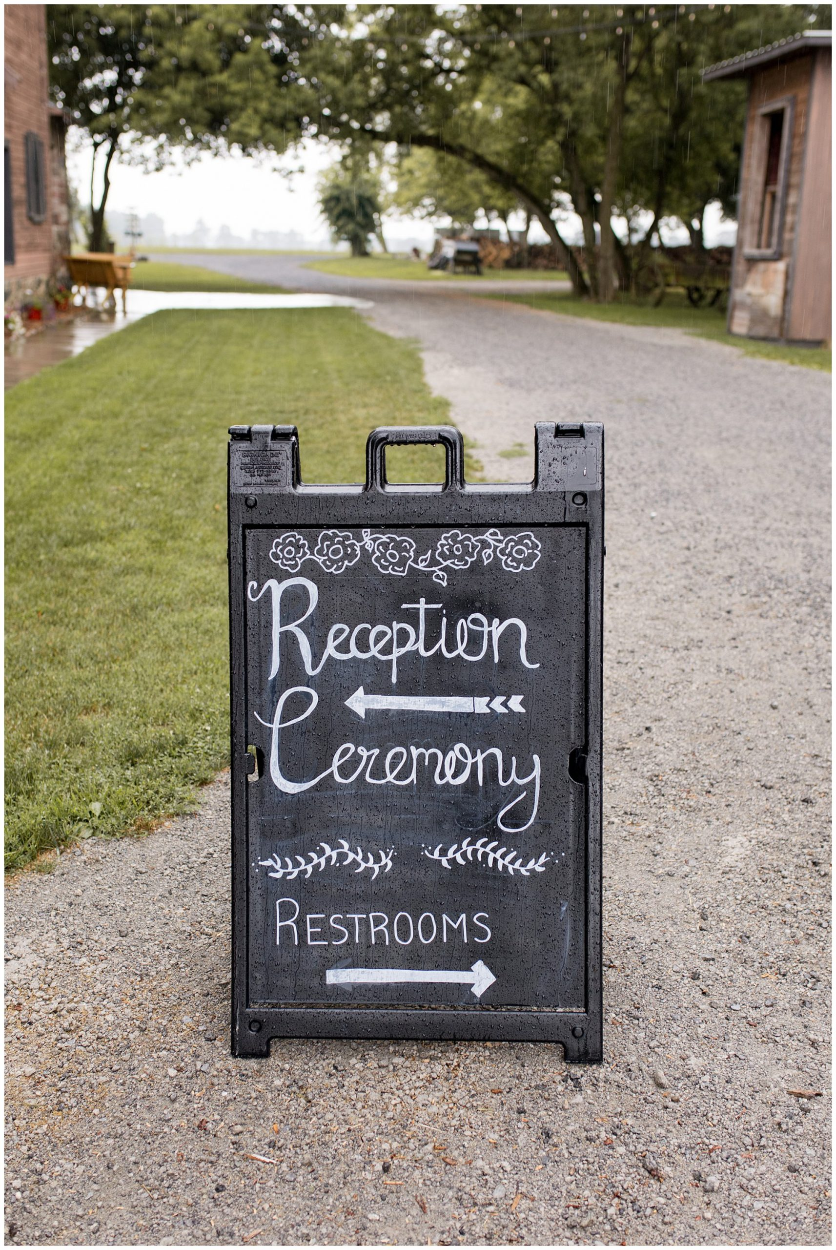 reception ceremony sign at The Old Mill Villate