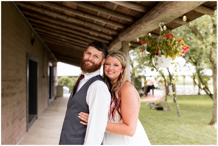 bride and groom wedding portraits at The Old Mill Village
