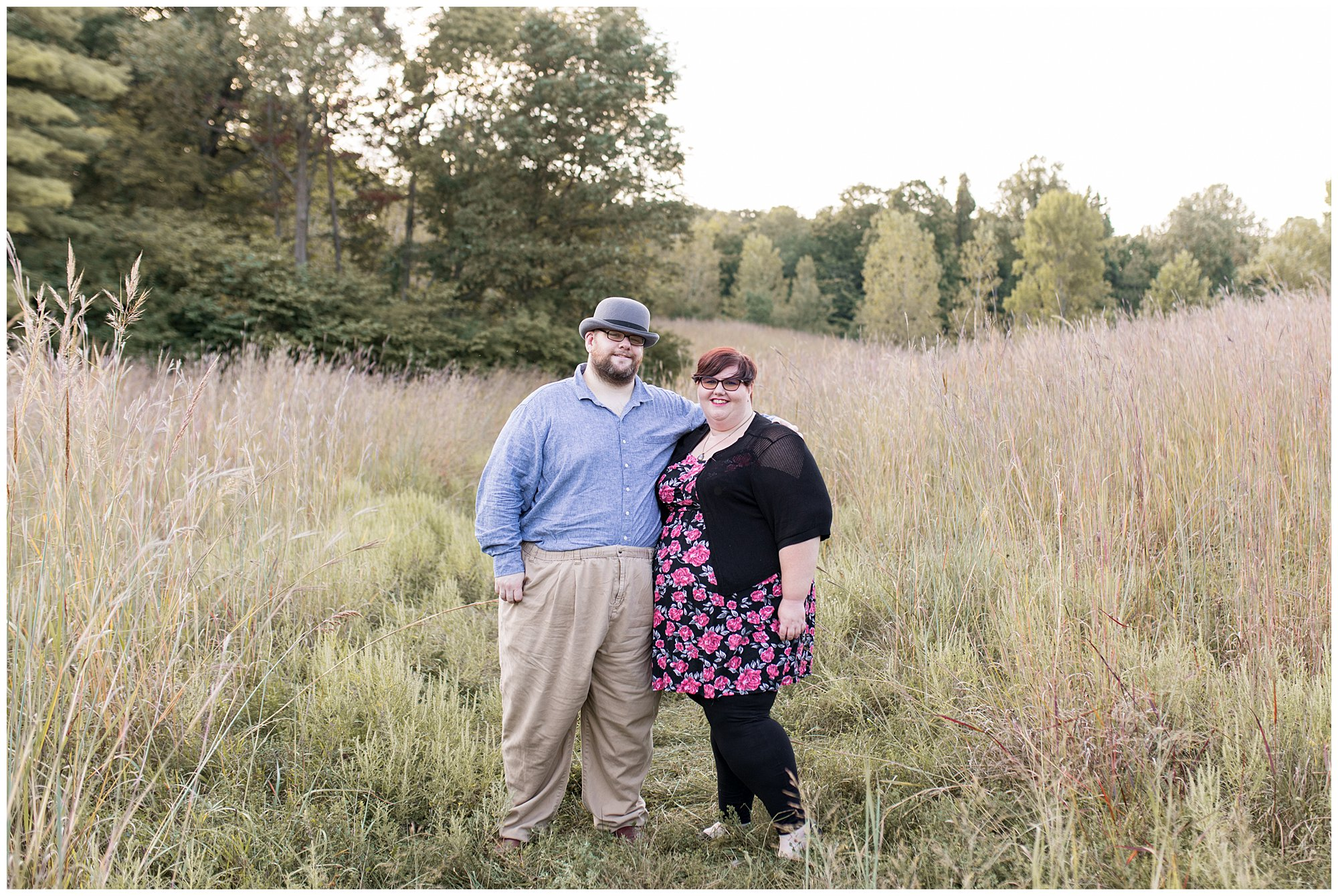 engagement session at Fort Harrison State Park in Indianapolis