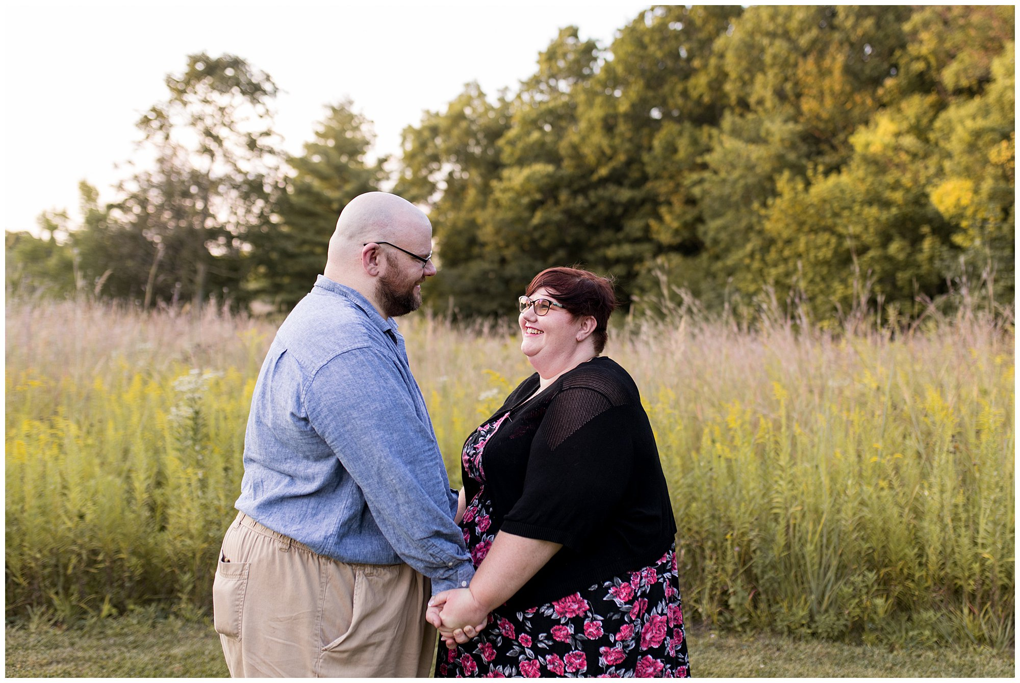 Fort Harrison State Park engagement in Indianapolis, Indiana
