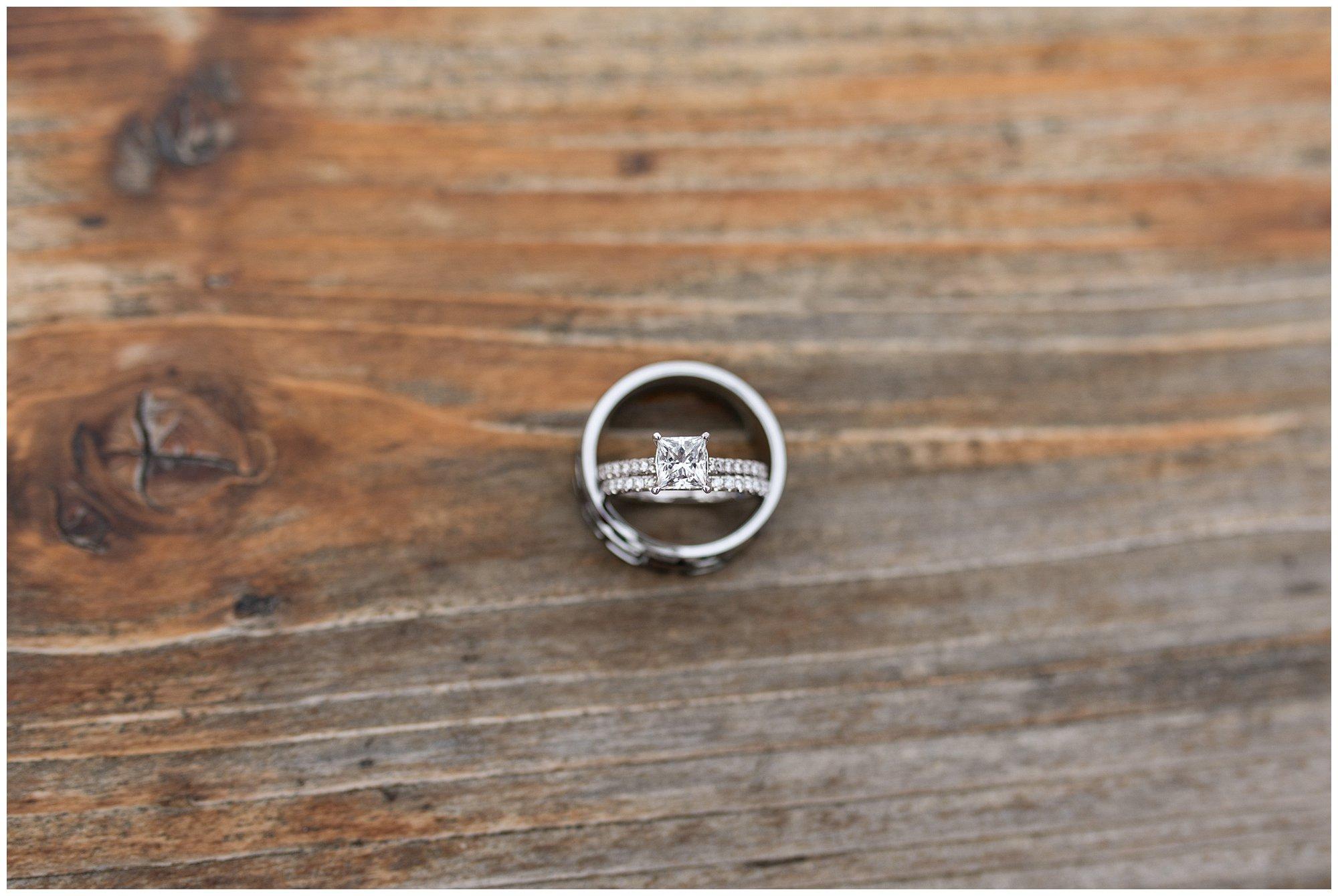 wedding rings detail at Fort Wayne wedding at Union 12