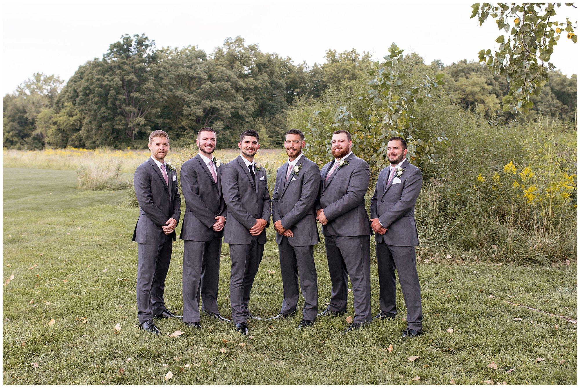 groom and groomsmen portraits before Fort Wayne wedding at Union 12