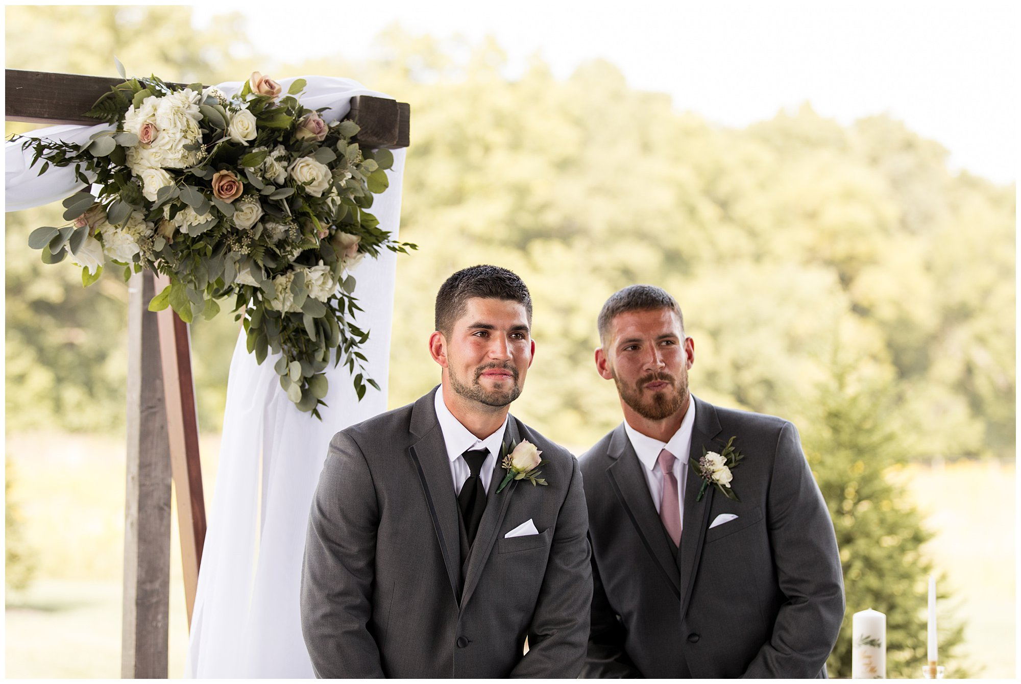 groom tears up seeing bride walk down aisle during Union 12 wedding ceremony