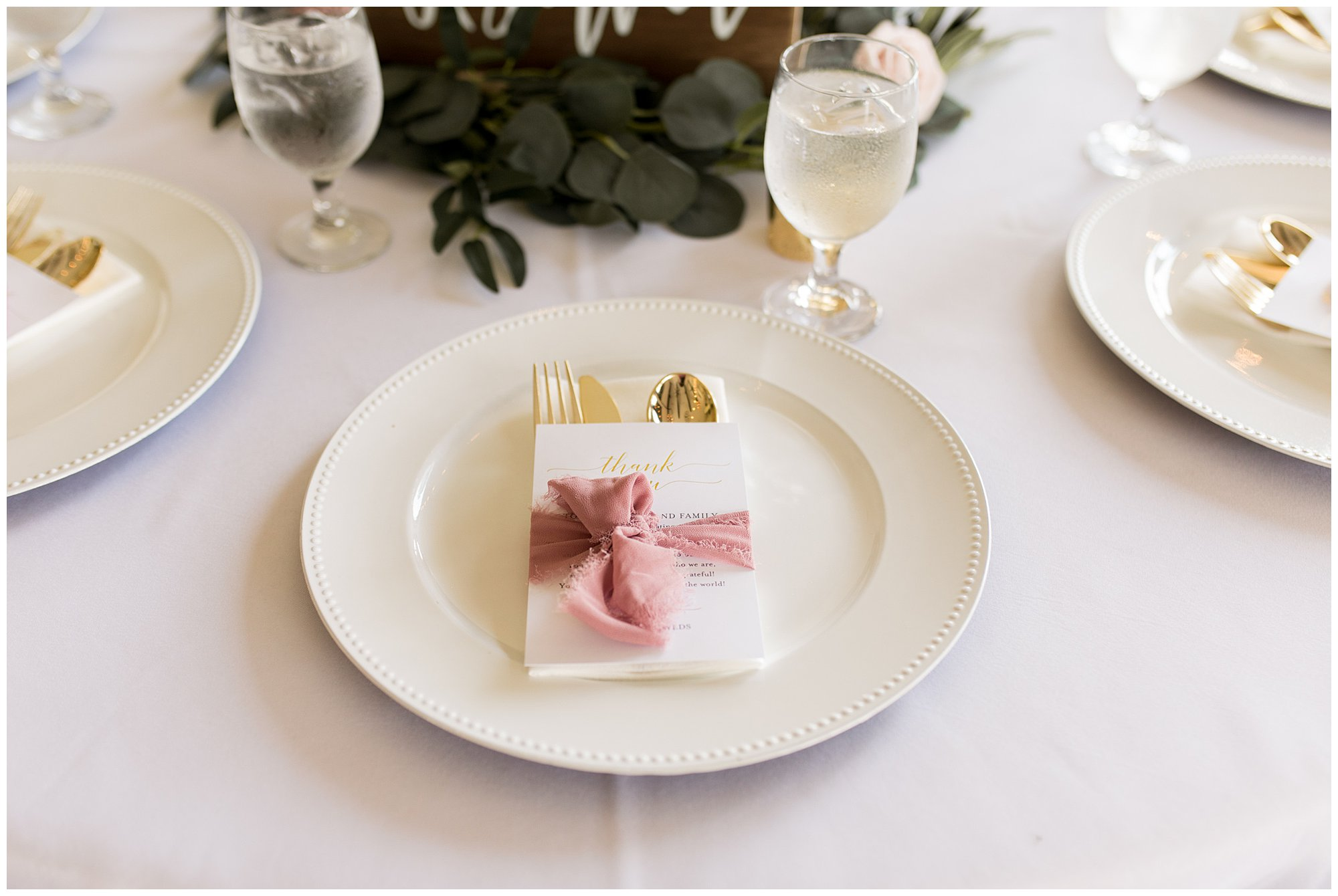 Fort Wayne wedding reception details at Union 12