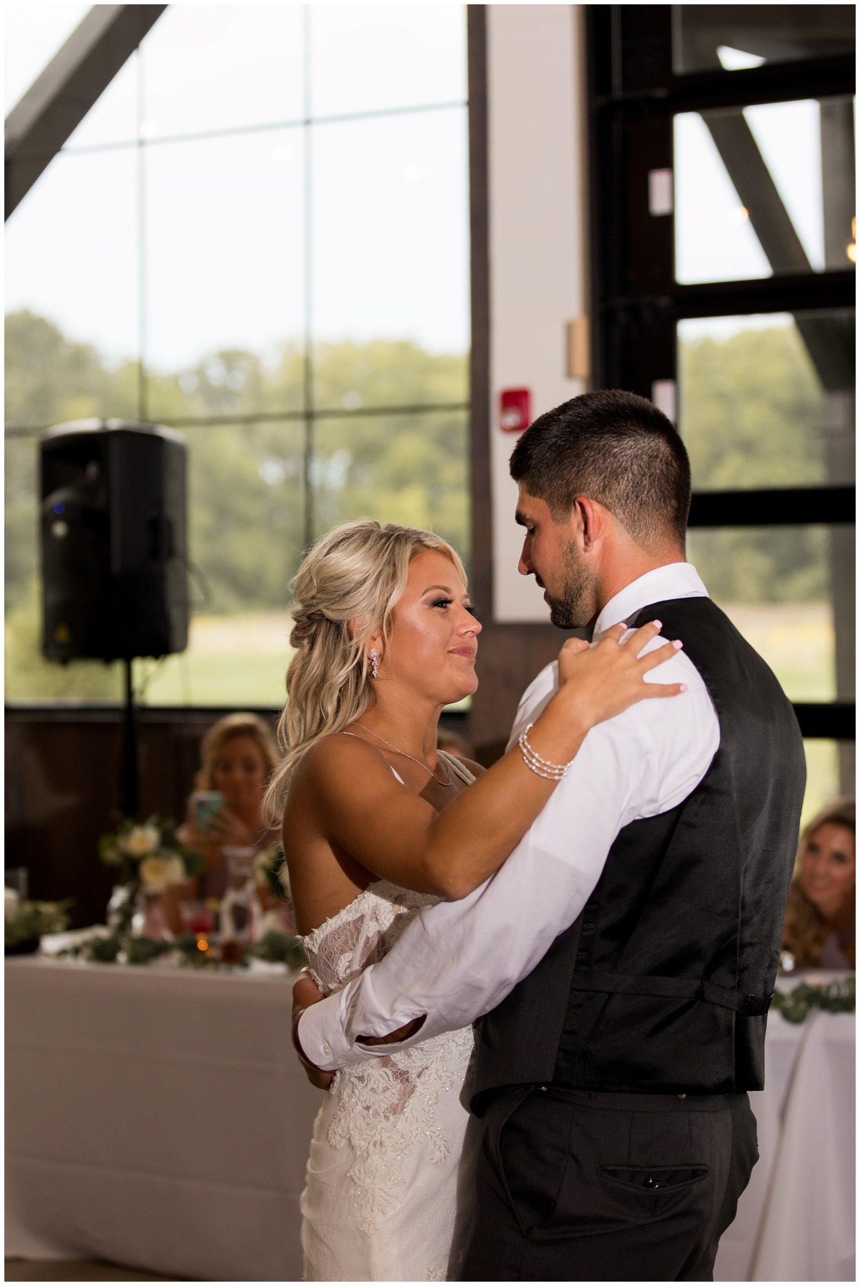 bride and groom first dance at Union 12 wedding reception