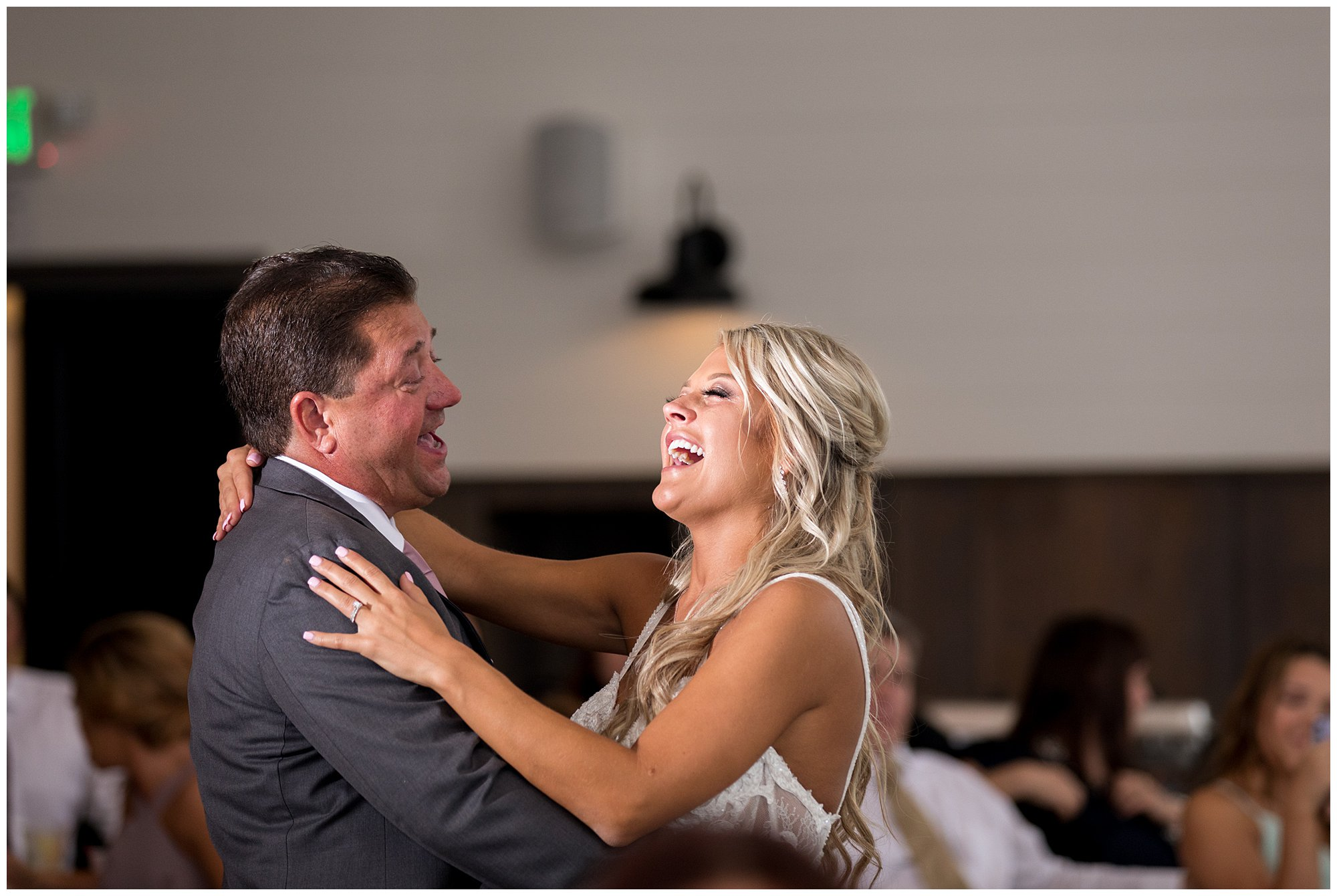 bride dances with father during Union 12 wedding reception