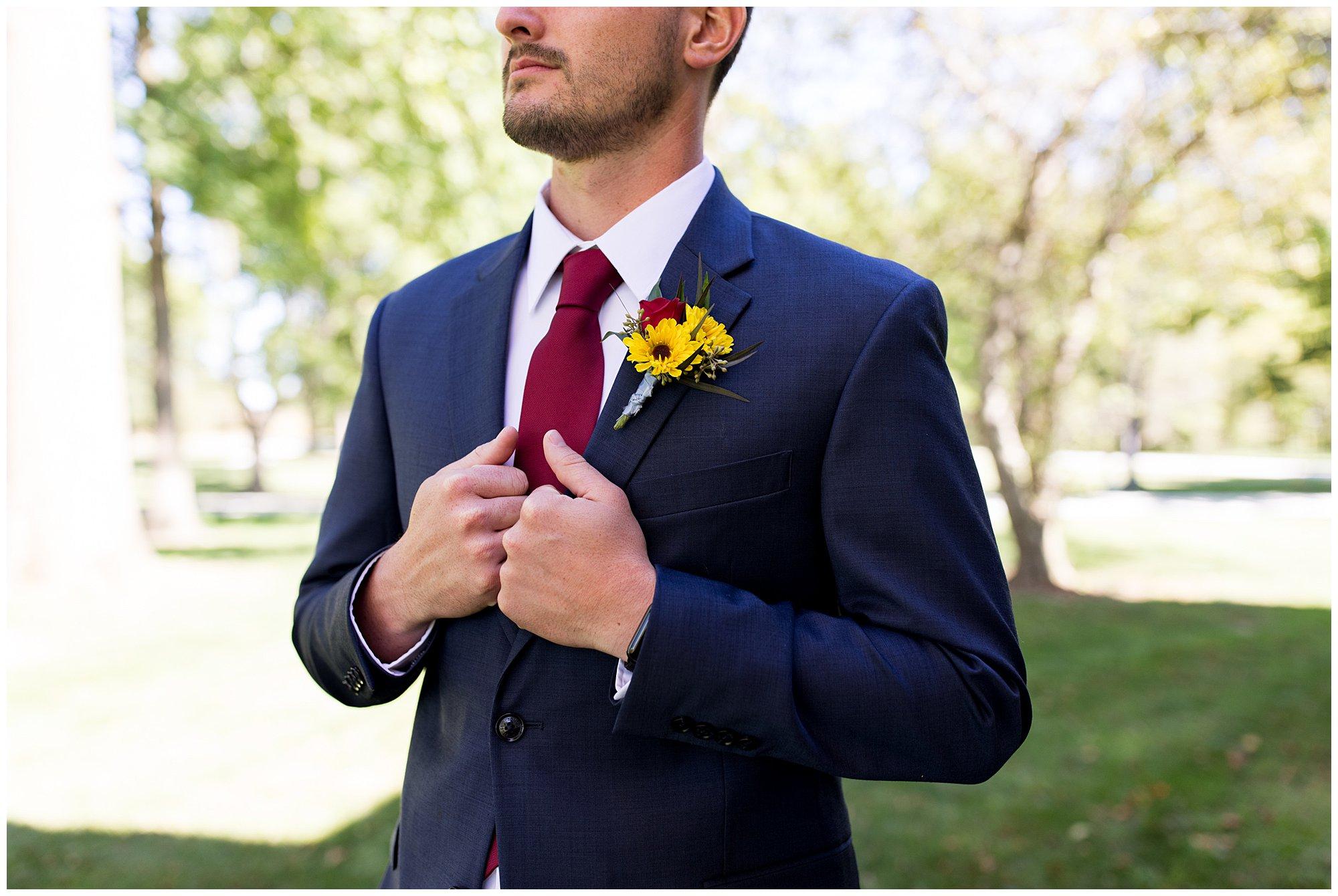 groom wedding photos at Legacy Barn venue in Kokomo Indiana