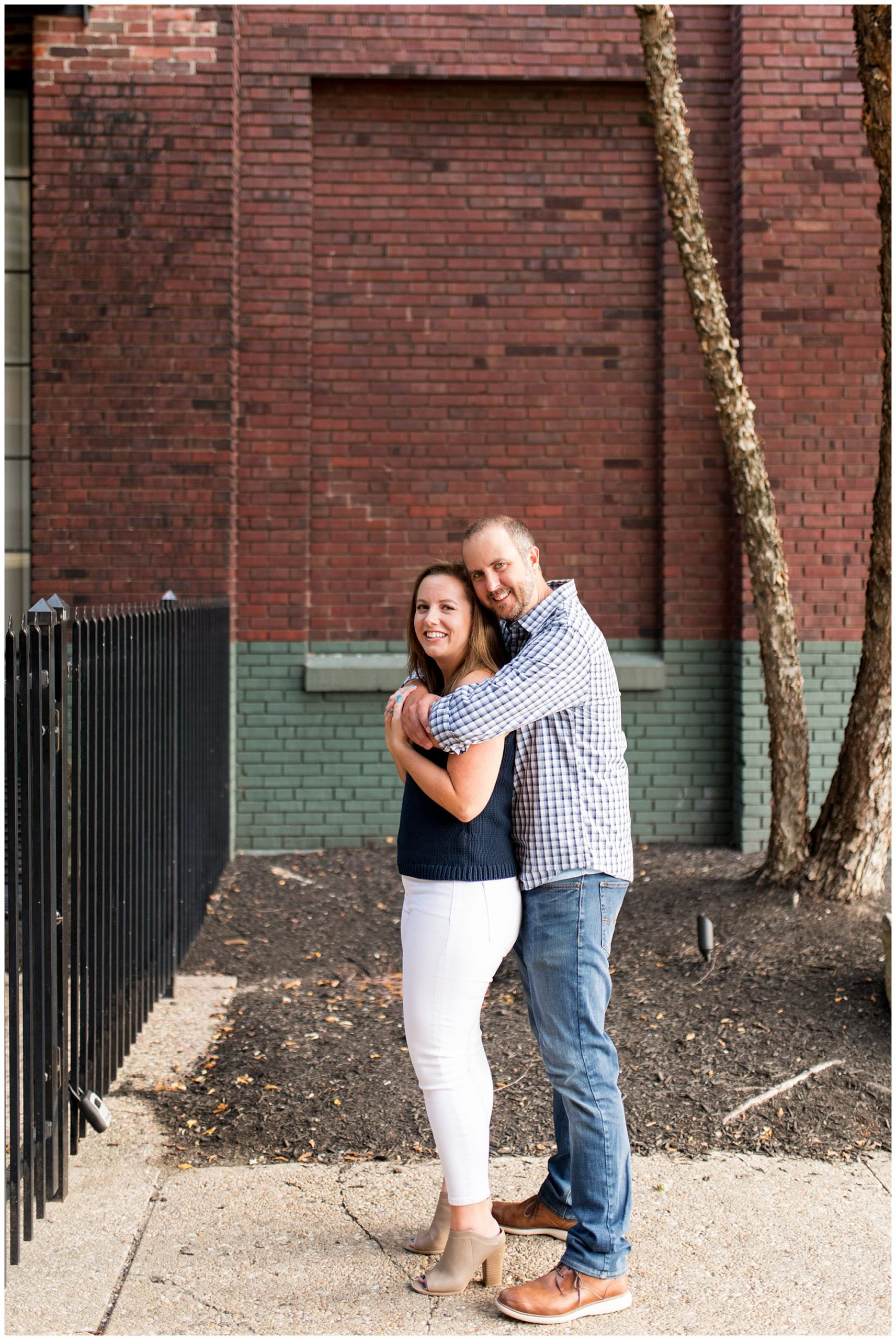 Mass Ave engagement session in Indianapolis