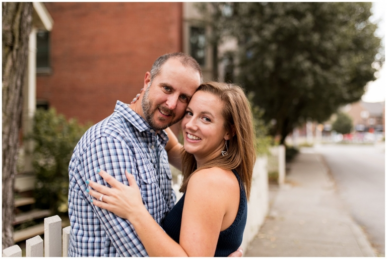 Indianapolis engagement session at Mass Ave