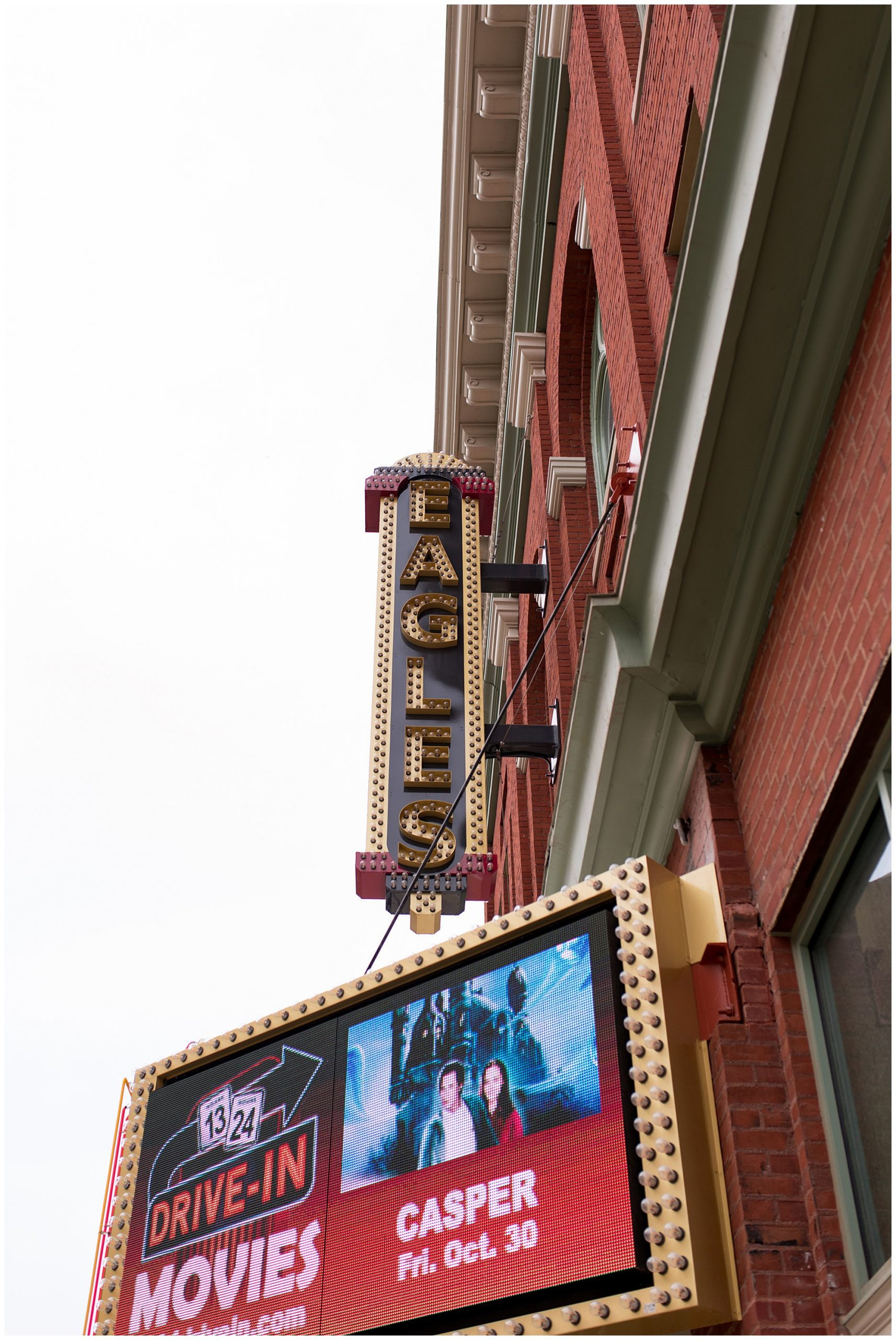 Eagles Theatre sign in Wabash Indiana