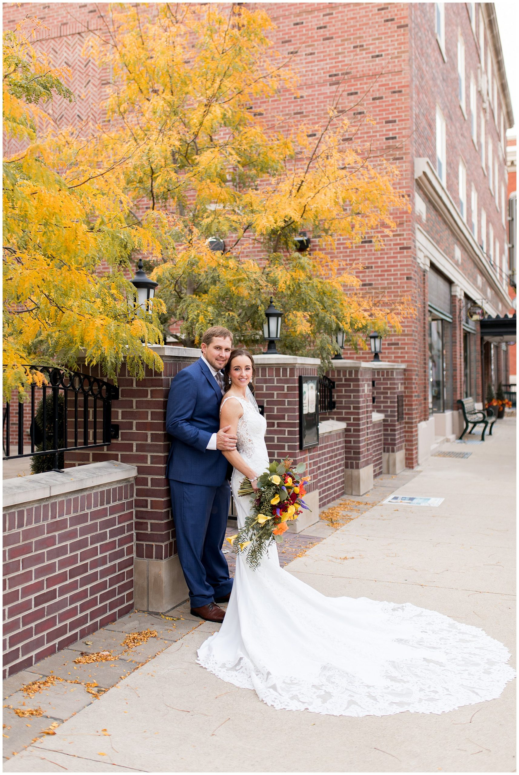 Eagles Theatre wedding in Wabash Indiana