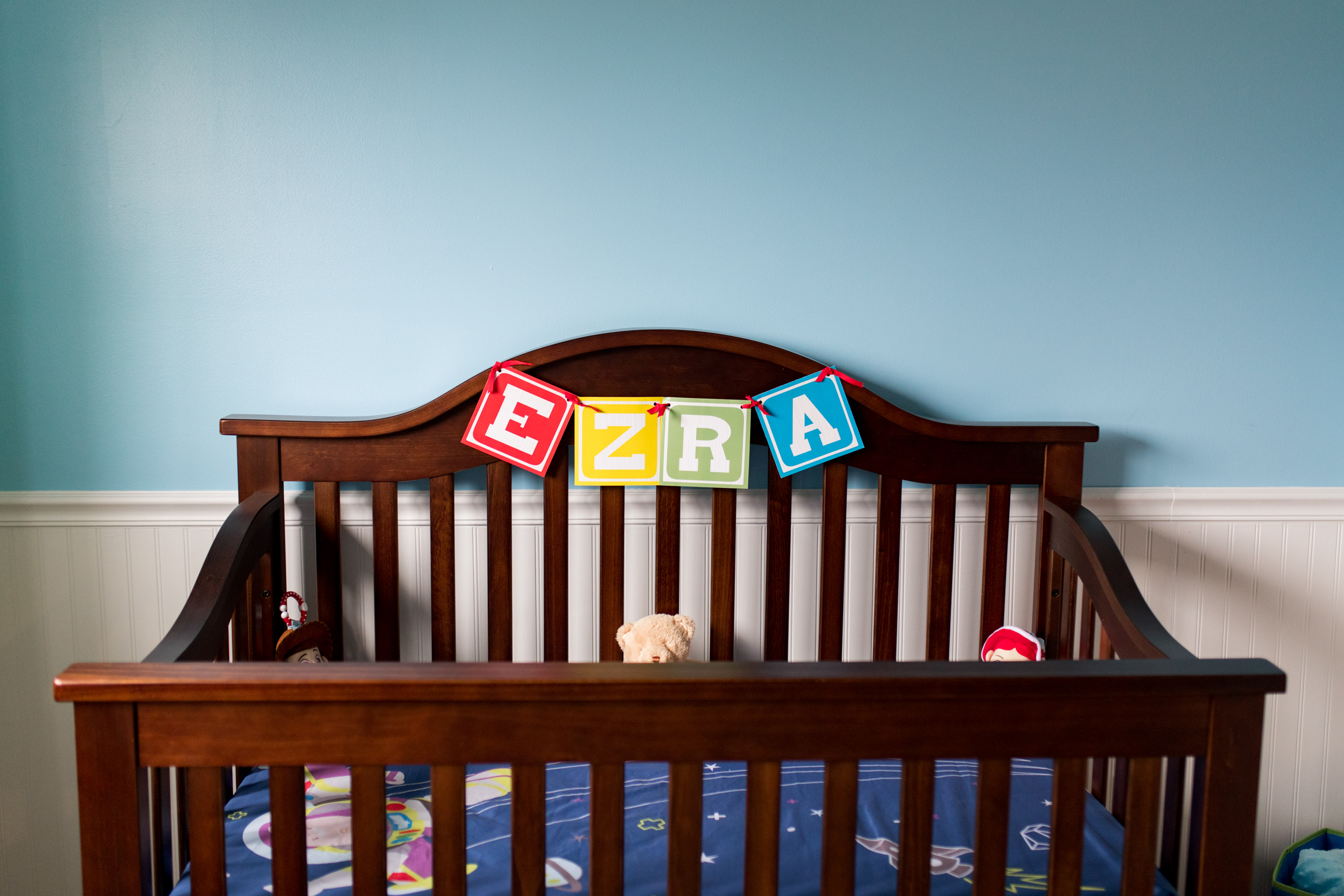 Toy Story themed baby nursery for Kokomo newborn session