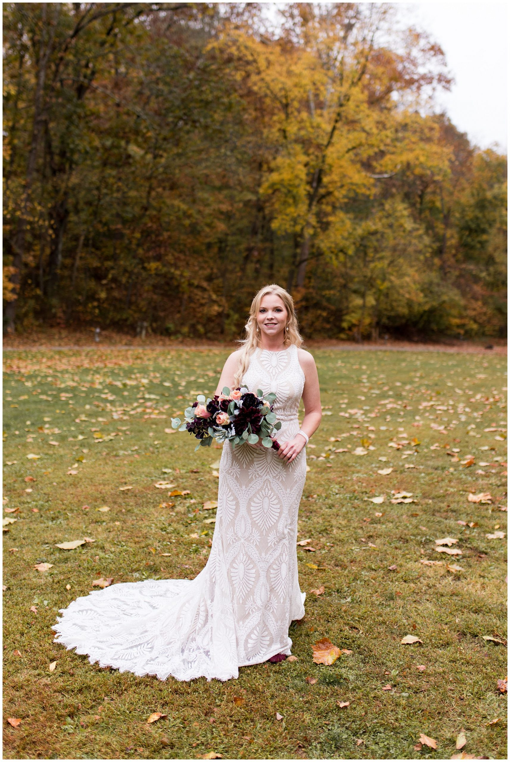 bride wedding portraits at Story Inn in Nashville Indiana