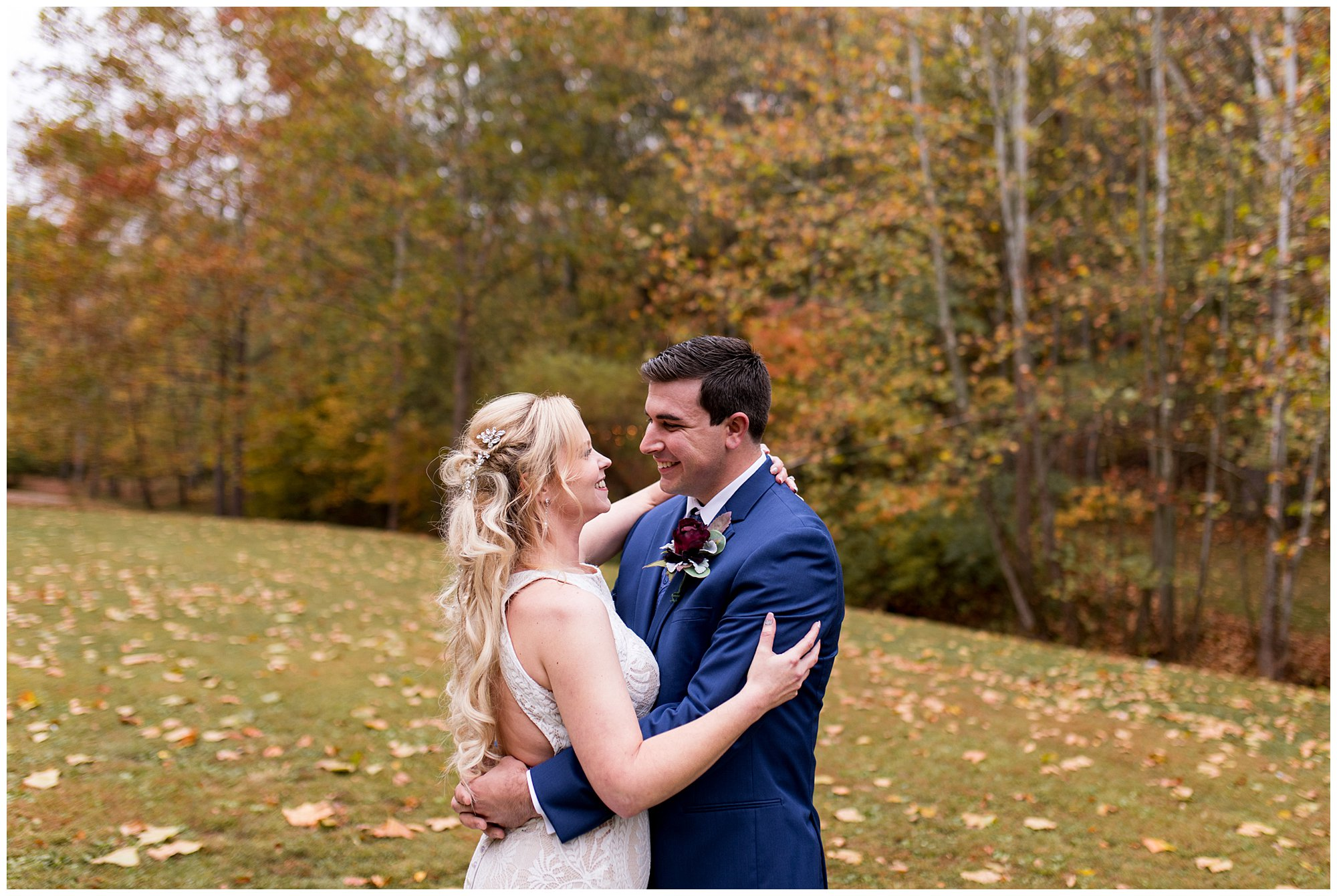 bride and groom wedding portraits at Story Inn