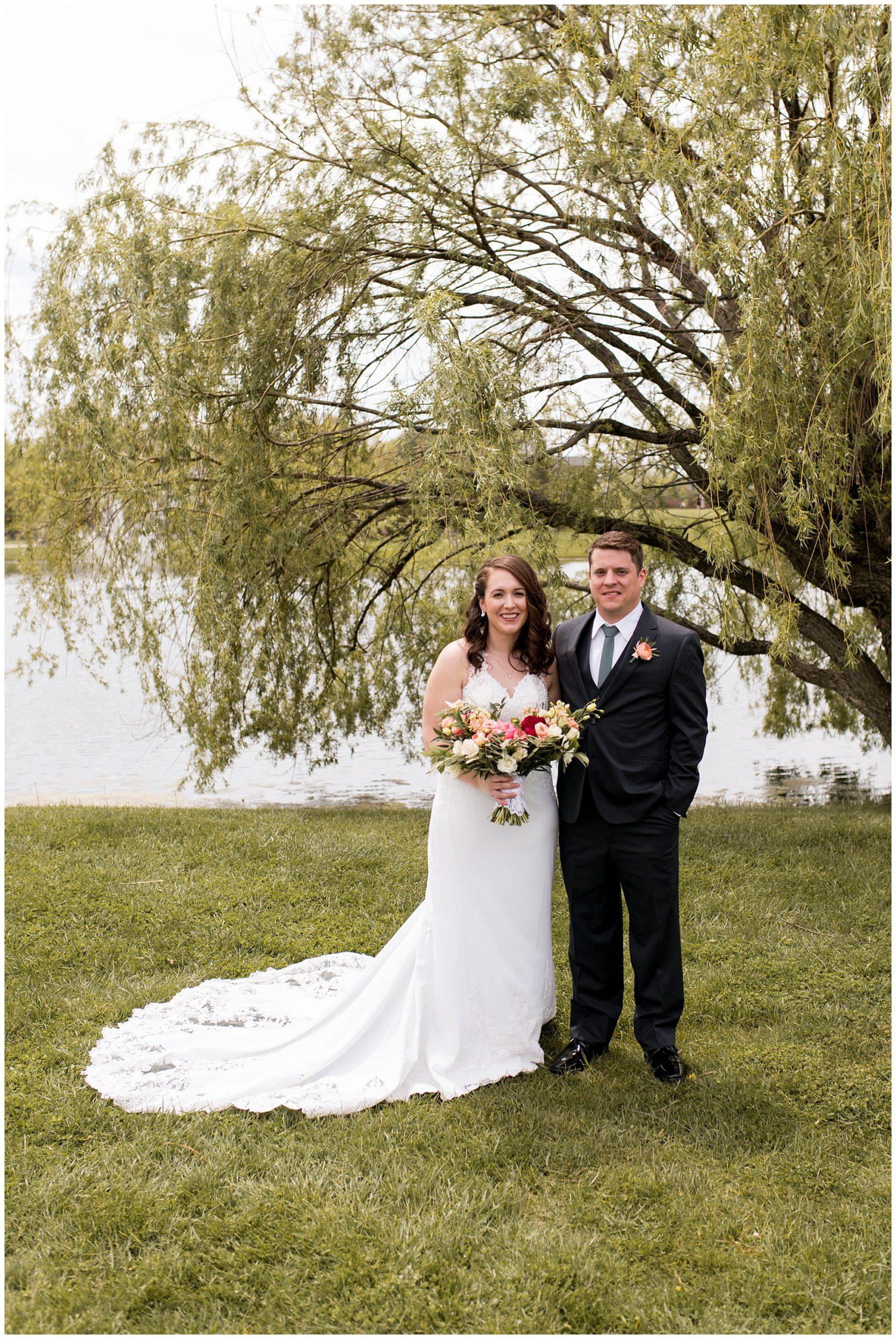 Coxhall Gardens bride and groom portraits