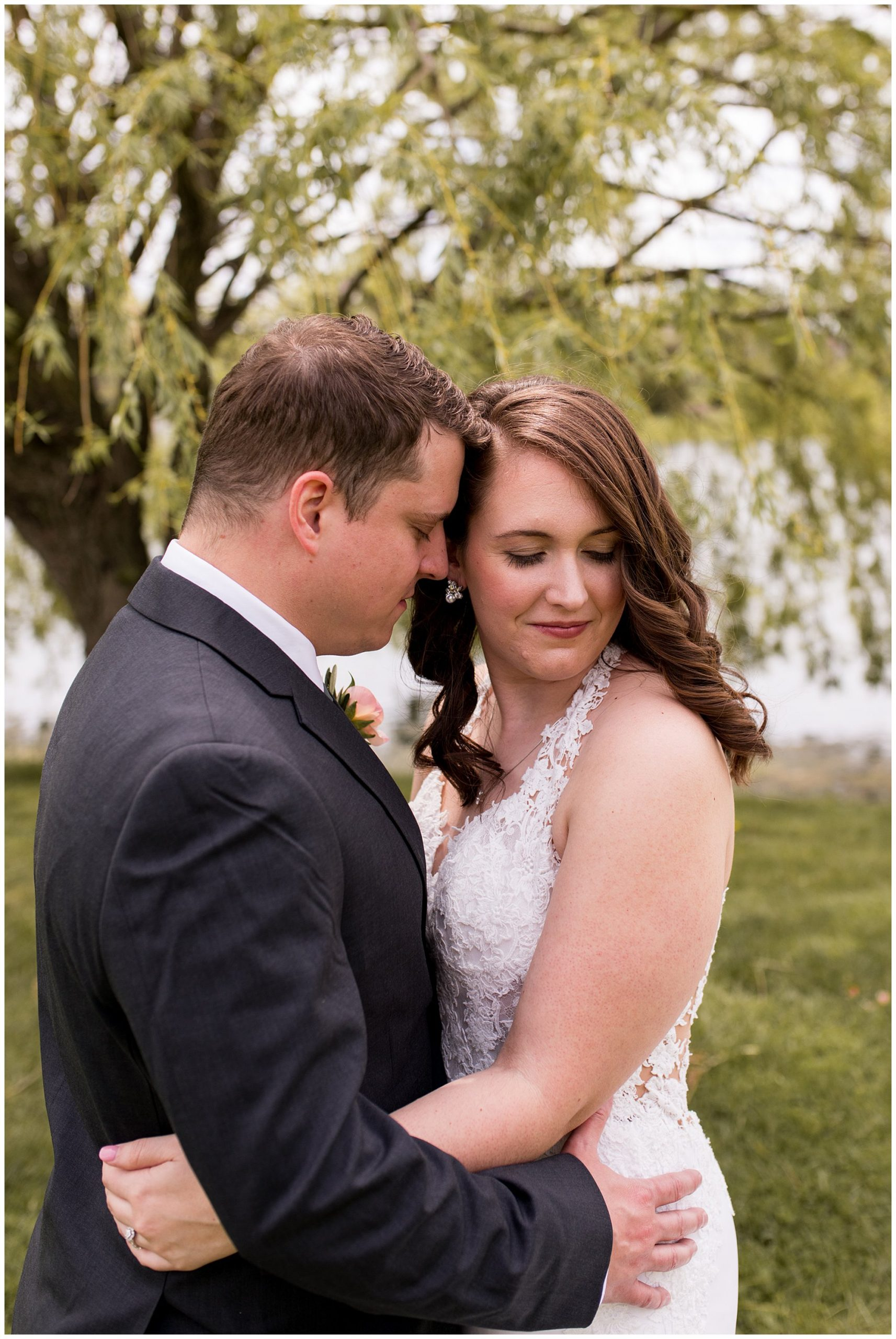 Coxhall Gardens bride and groom portraits in Carmel Indiana