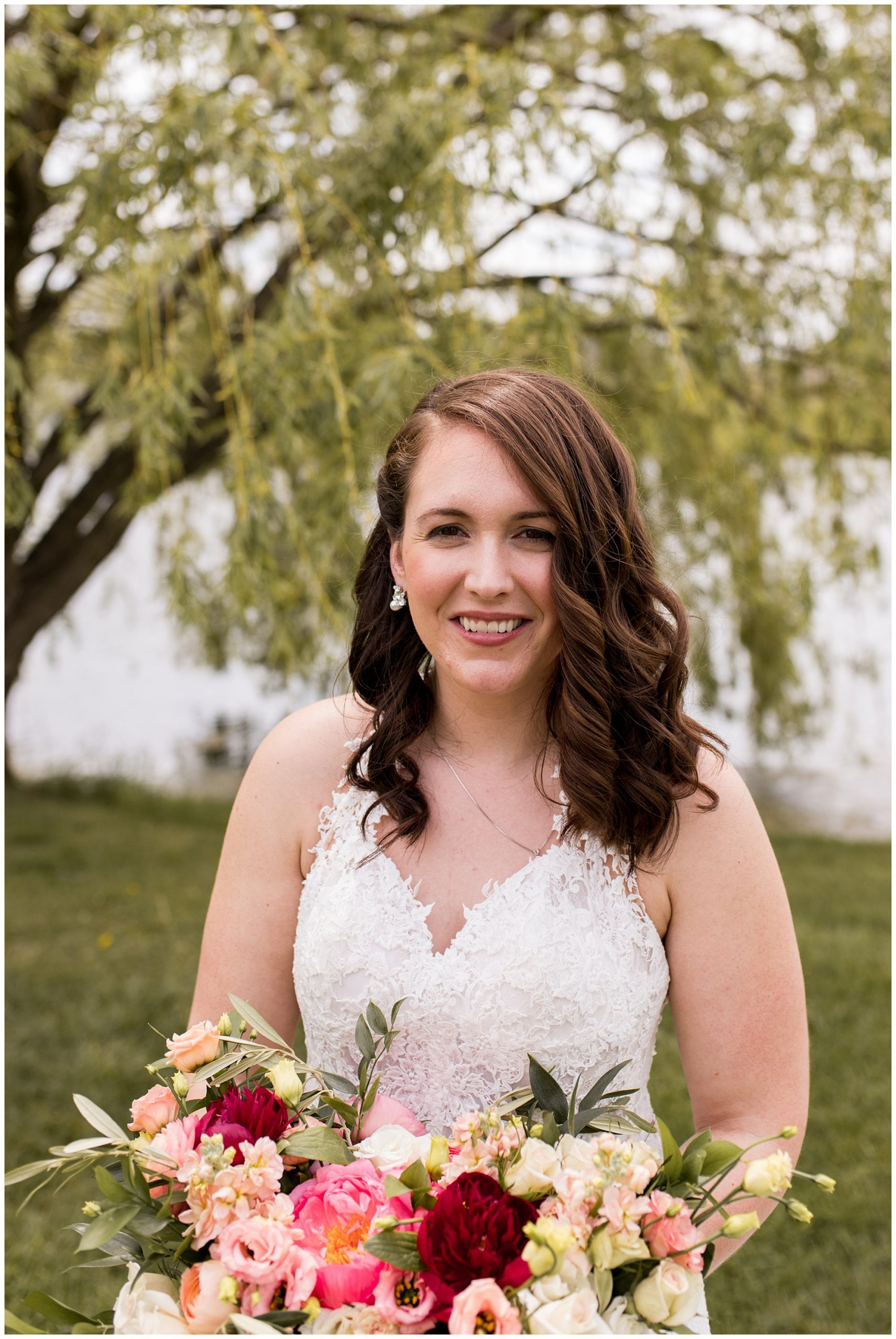 bride portraits at Coxhall Gardens in Carmel