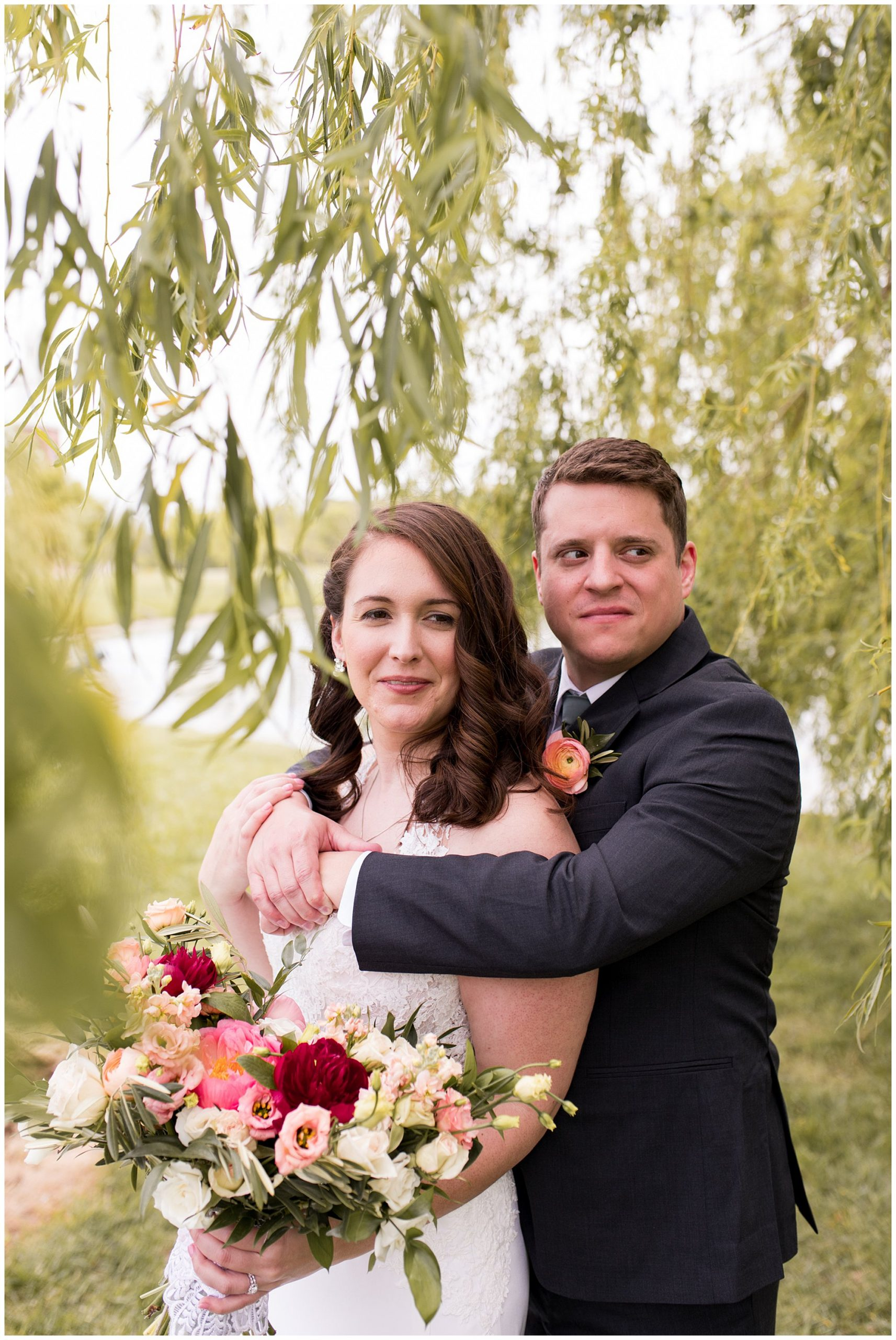 Coxhall Gardens bride and groom wedding photos