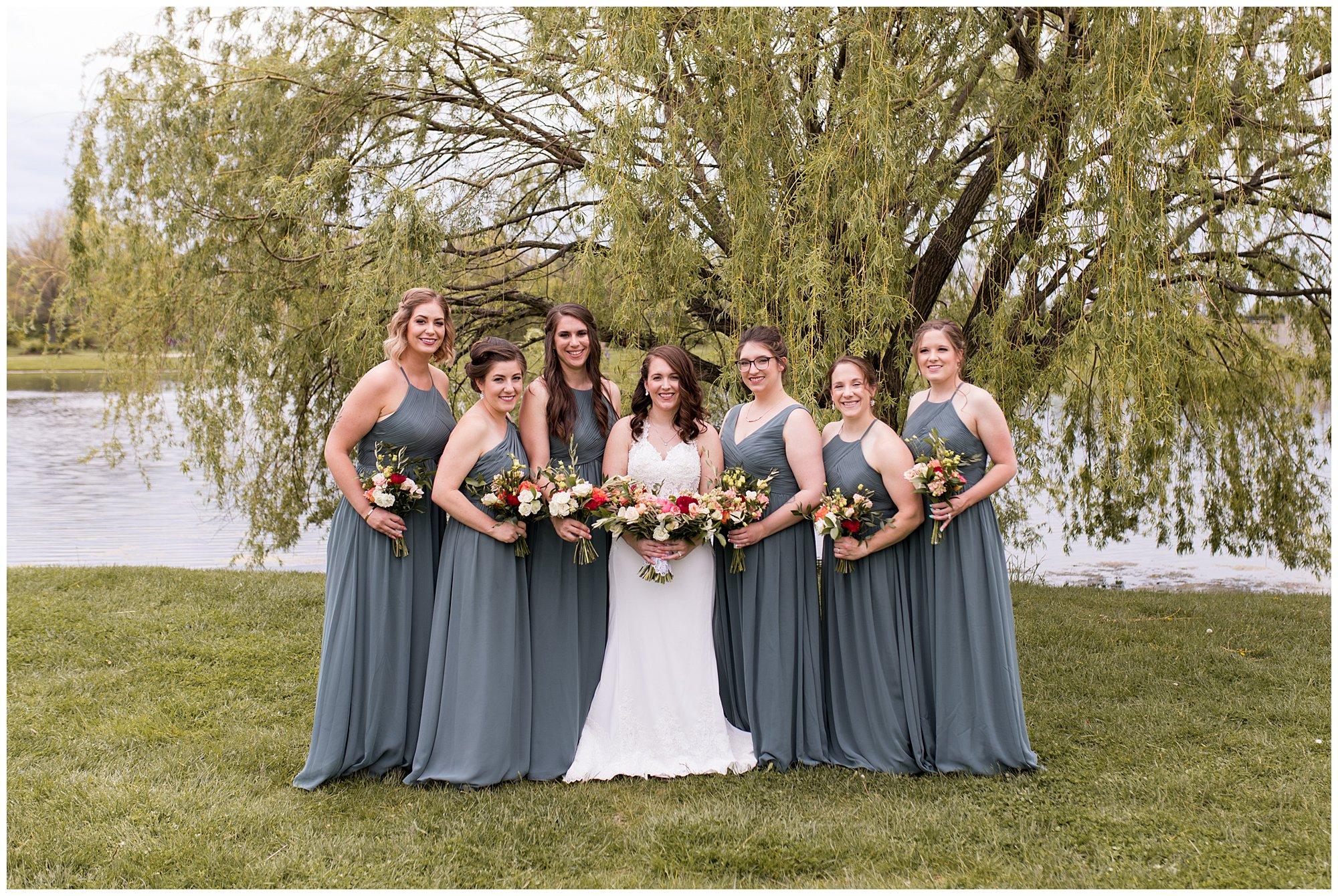 Coxhall Gardens wedding party photos