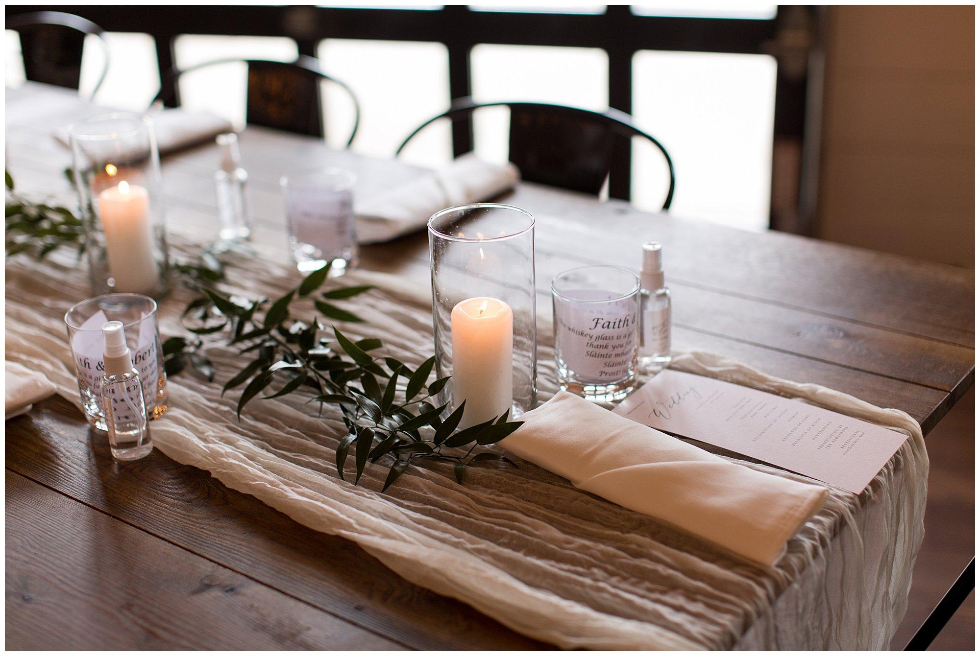 wedding reception decor at BASH in Carmel