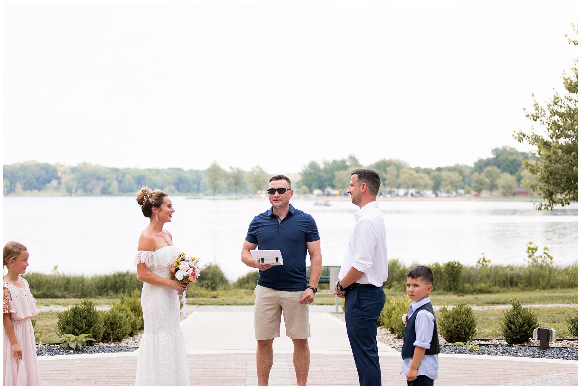 Wedding Ceremony at Lucerne Park in Warsaw, Indiana