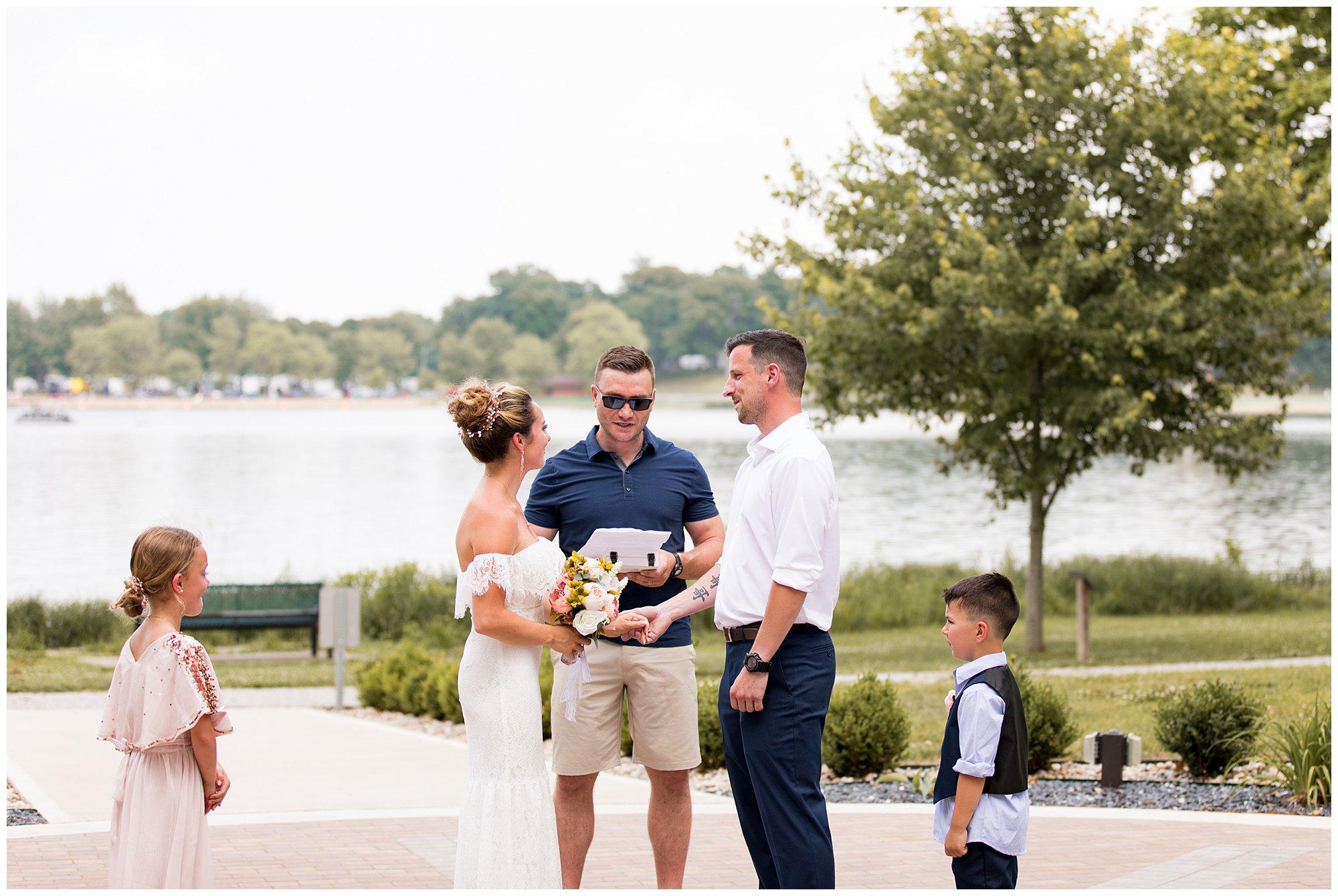 Lucerne Park Wedding Ceremony in Warsaw, Indiana