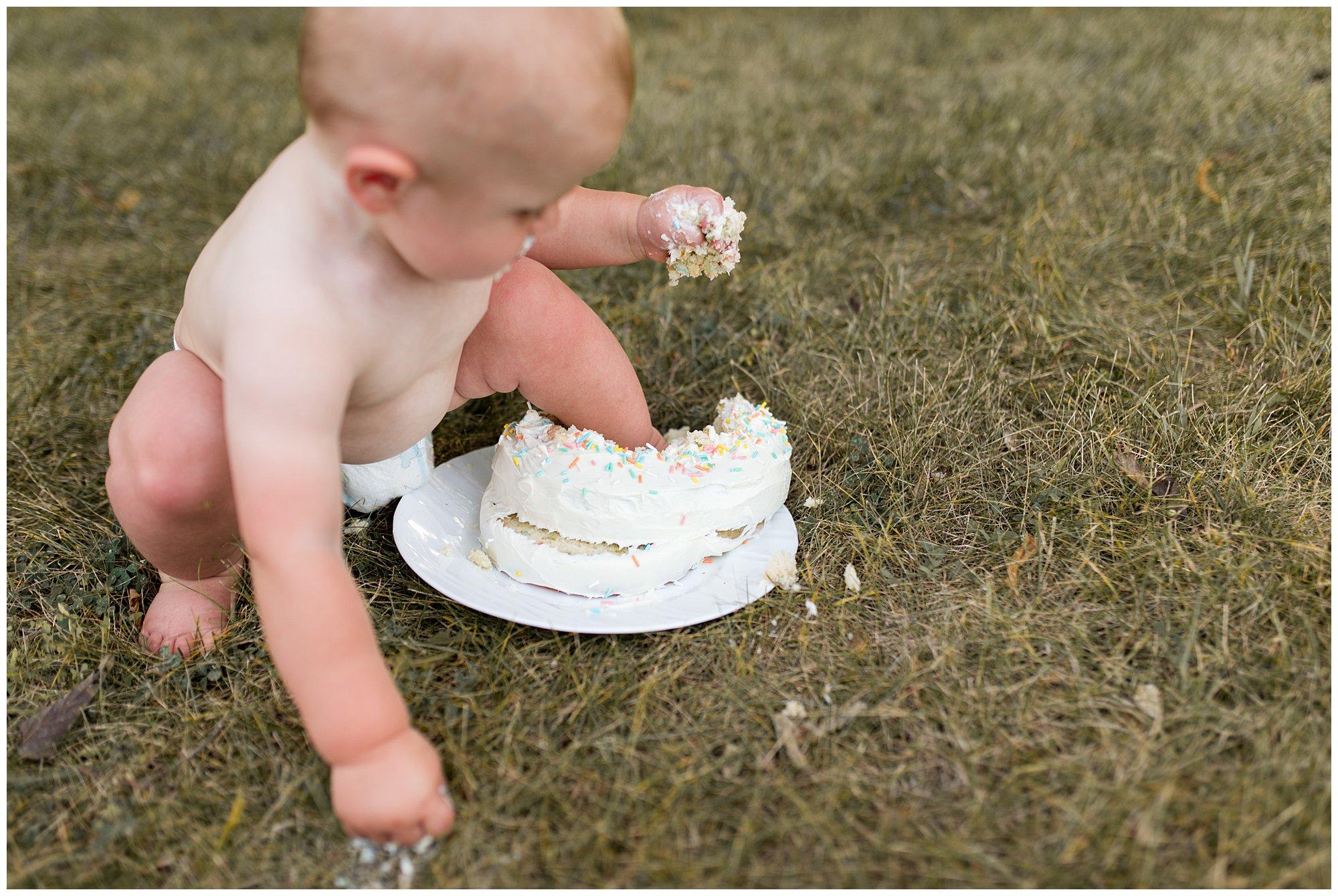 baby first birthday cake smash in Muncie Indiana