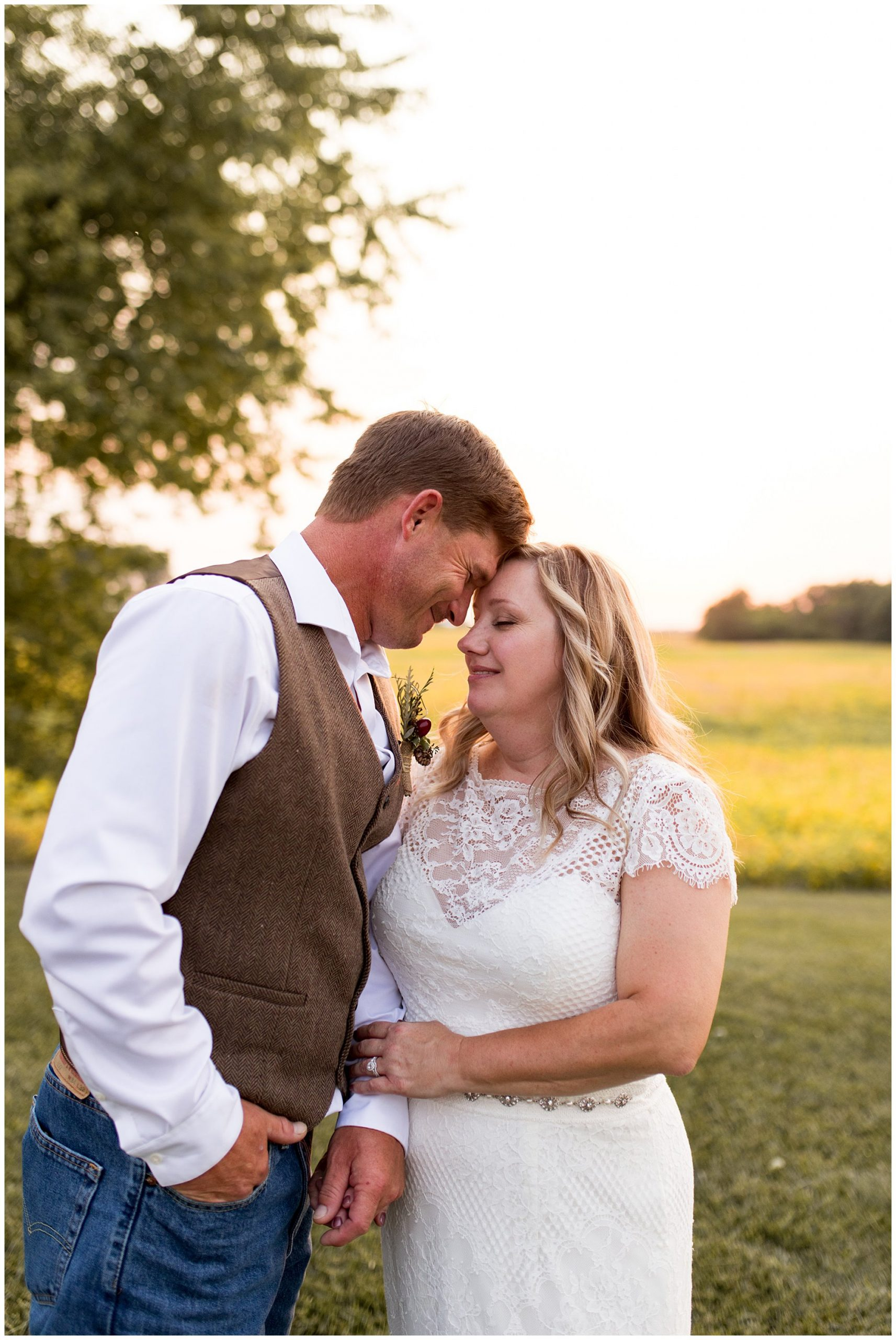 bride and groom at rustic wedding at Barn on Boundary