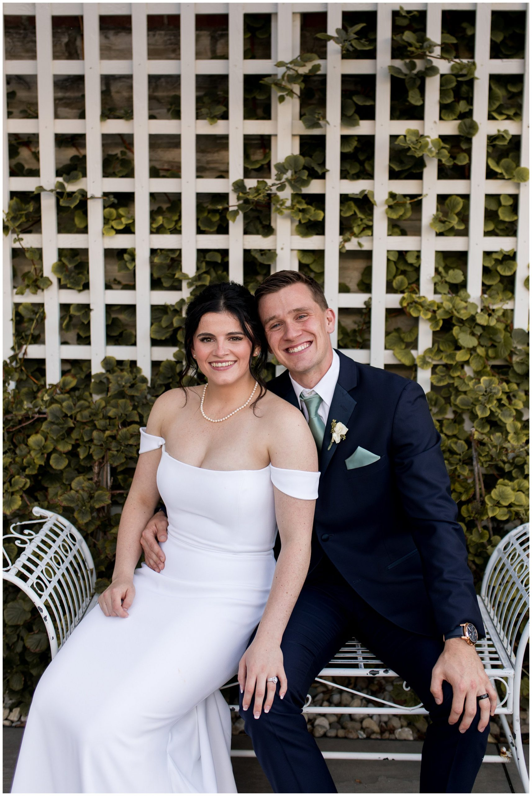 bride and groom after elegant wedding at The Hobson Kokomo