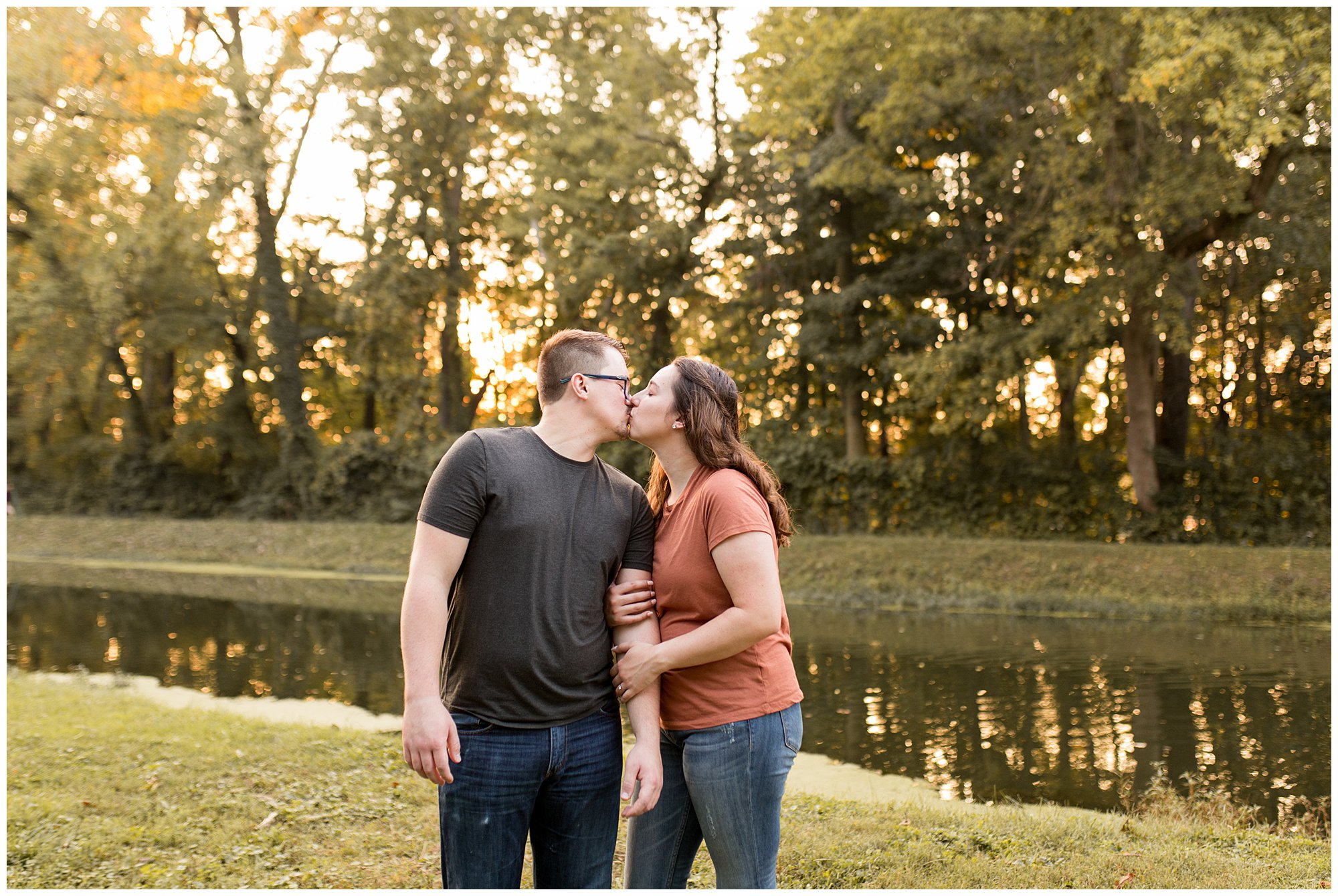 sunset engagement session at Holcomb Gardens in Indianapolis